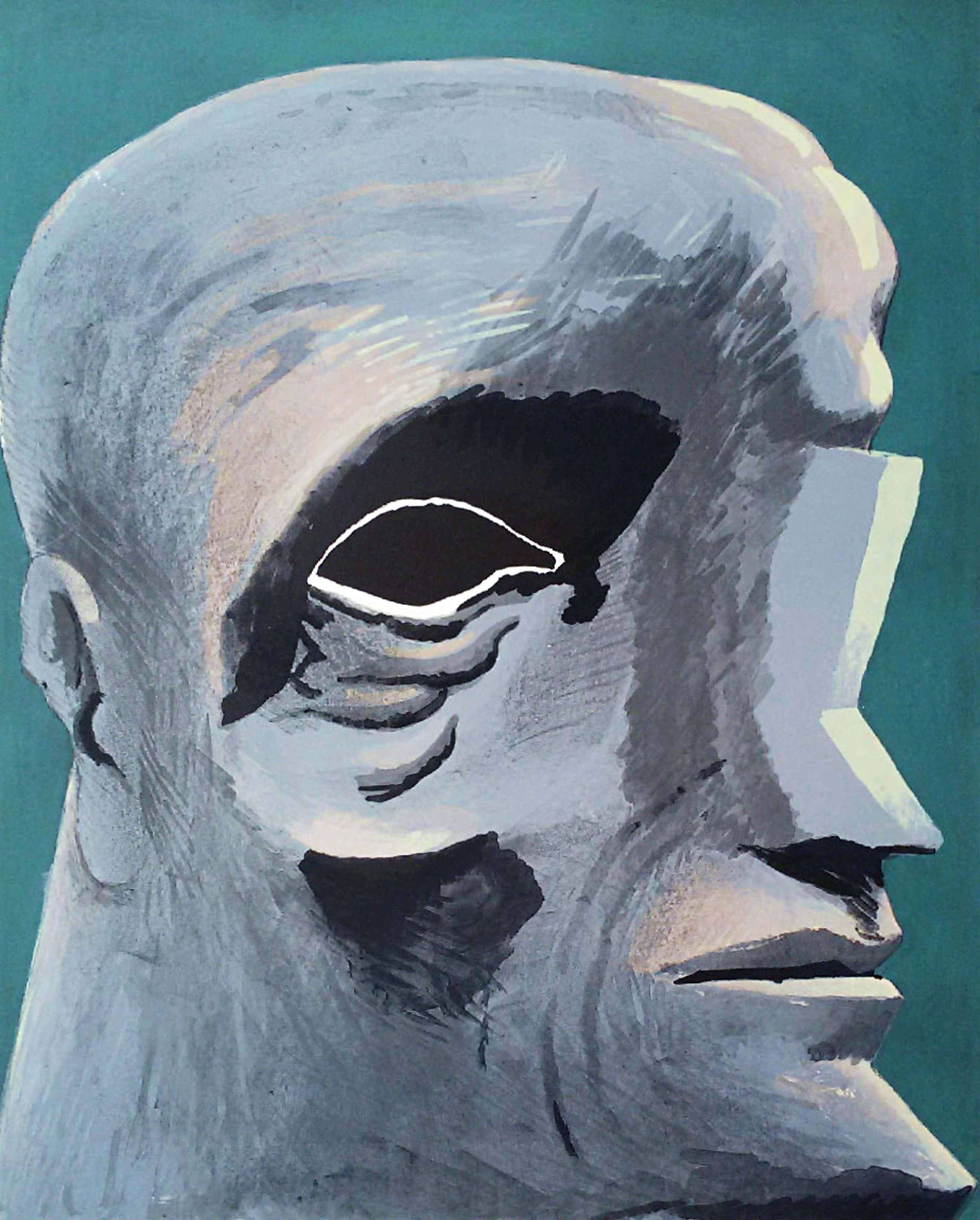 Horst Antes - Porträt Michelangelo, Litho kopen? Bied vanaf 295!