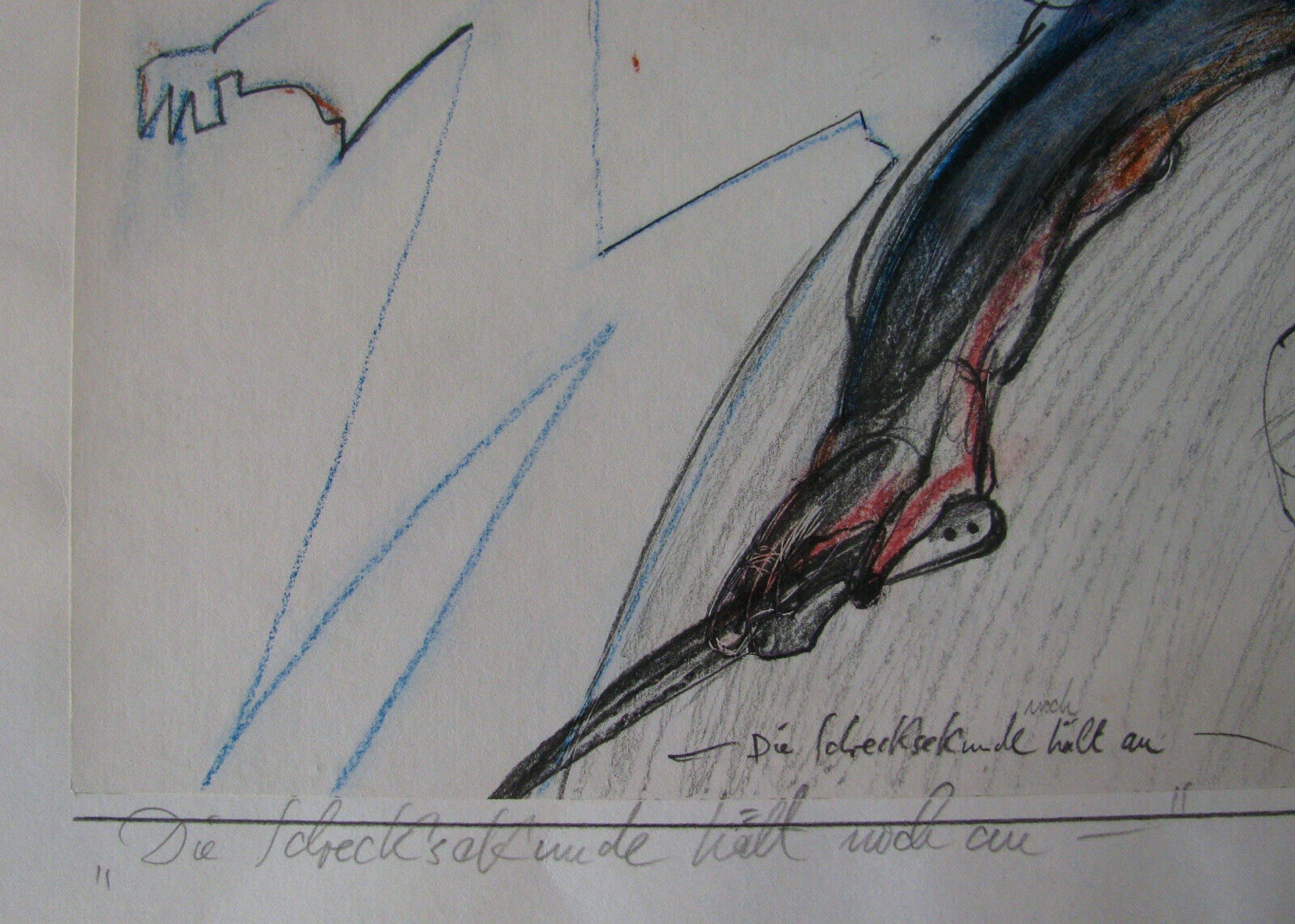 Christian Rickert - MISCHTECHNIK - 1983 signiert . DIE SCHRECKSEKUNDE HÄLT NOCH AN . kopen? Bied vanaf 140!