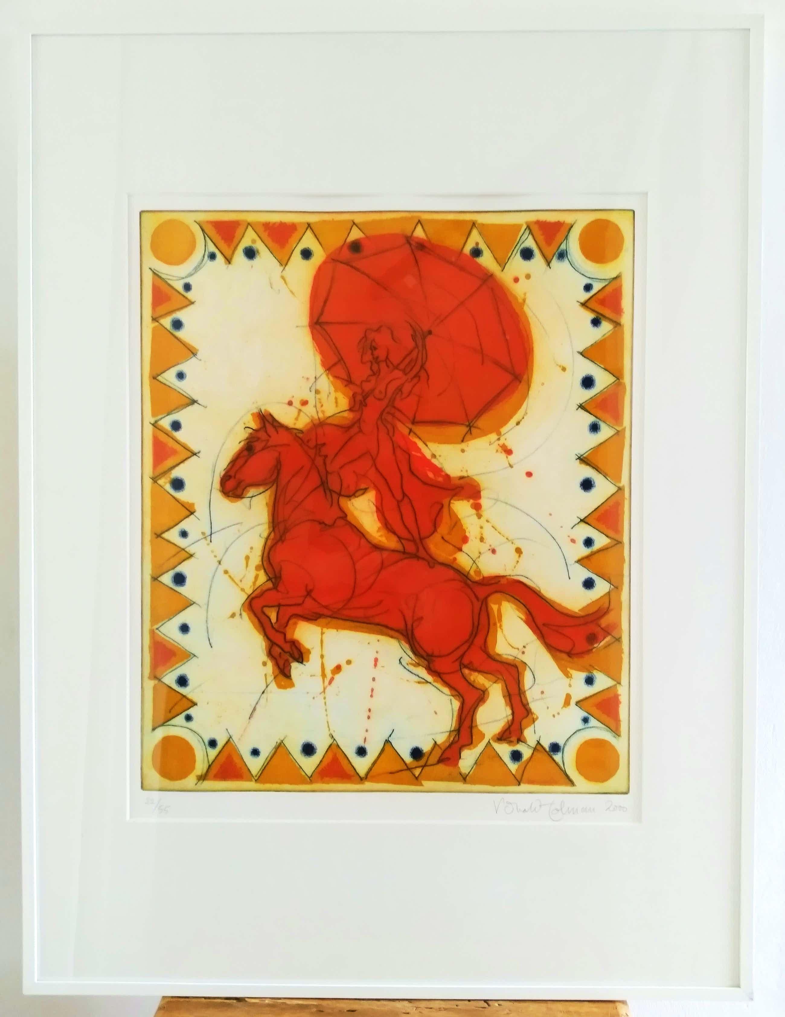 Ronald Tolman - (1948, Amsterdam), bruisende voorstelling in vrolijke kleuren kopen? Bied vanaf 125!
