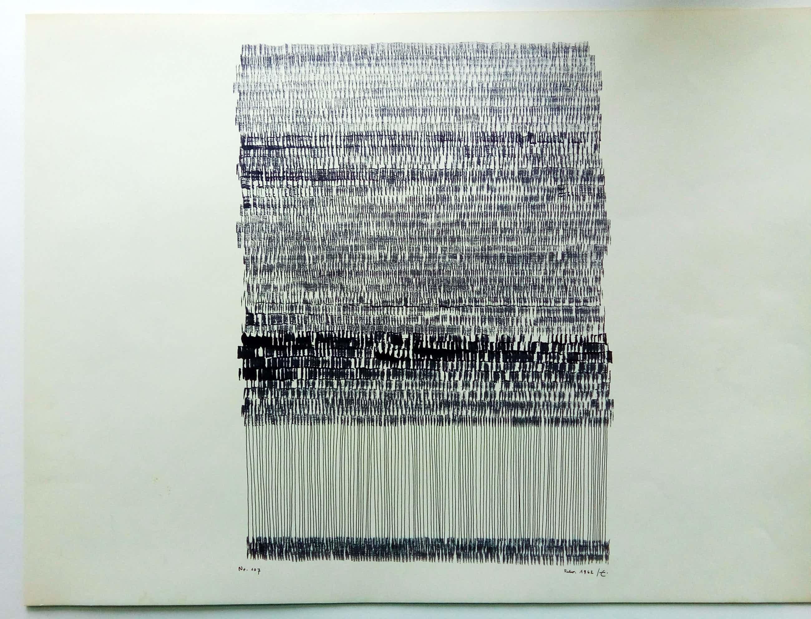 Rudolf Englert - Linien, Werk Nr. 107 kopen? Bied vanaf 300!