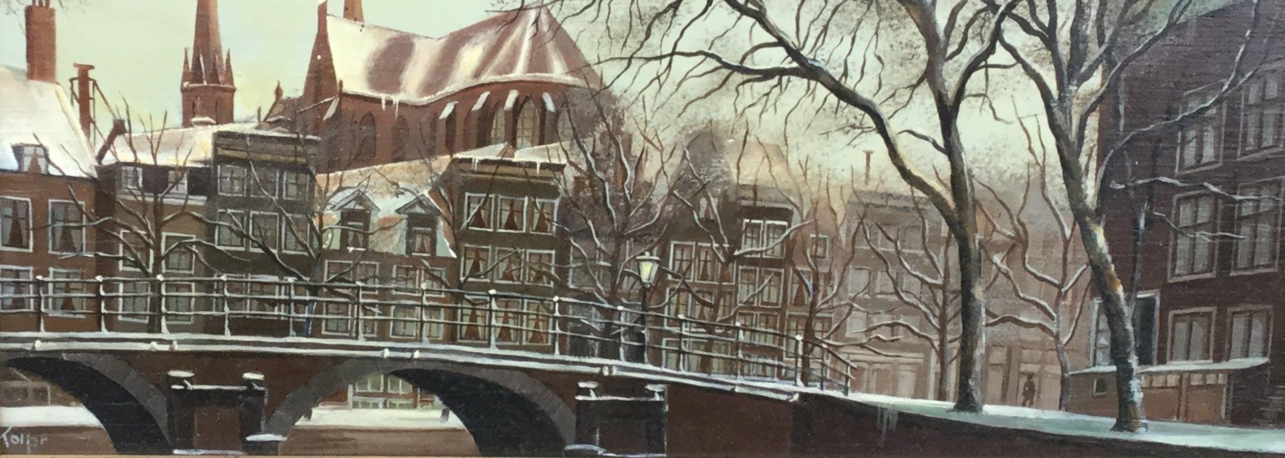 Lois Kapr - A7667, Heerengracht Amsterdam in de winter kopen? Bied vanaf 400!