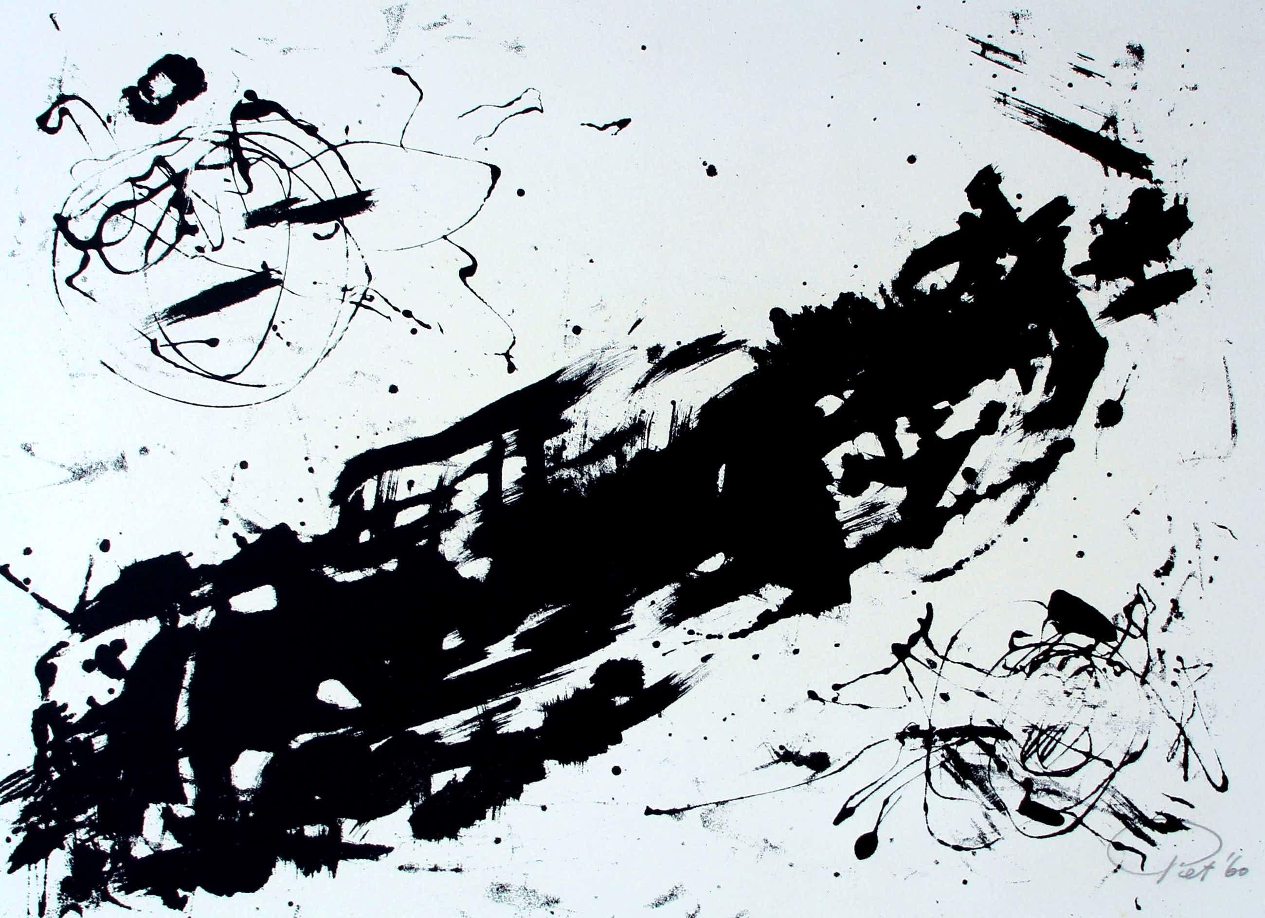 Piet van Stuivenberg - Litho: Abstracte compositie - 1960 kopen? Bied vanaf 39!
