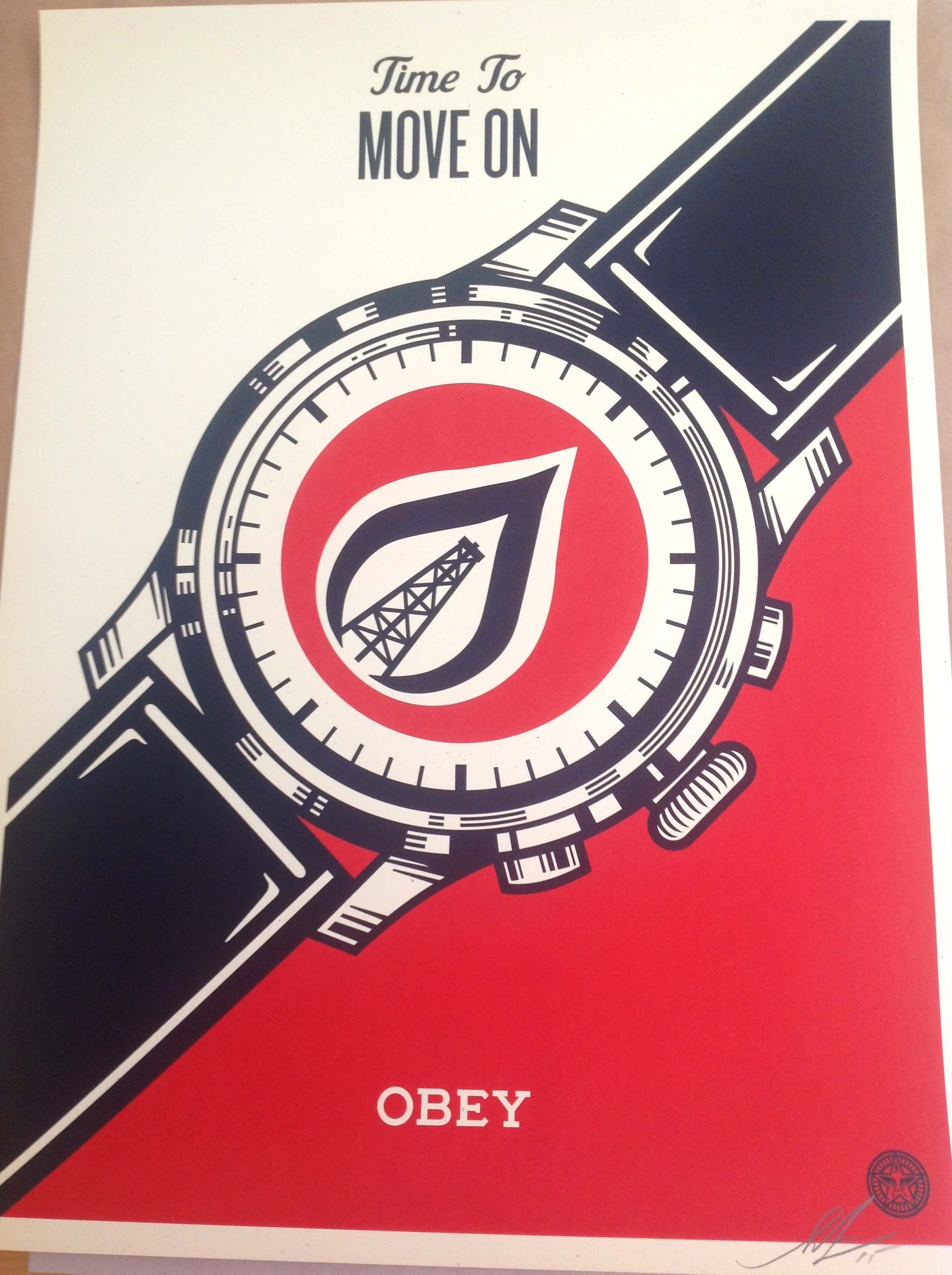 "Shepard Fairey - ""Time to Move On"" kopen? Bied vanaf 290!"
