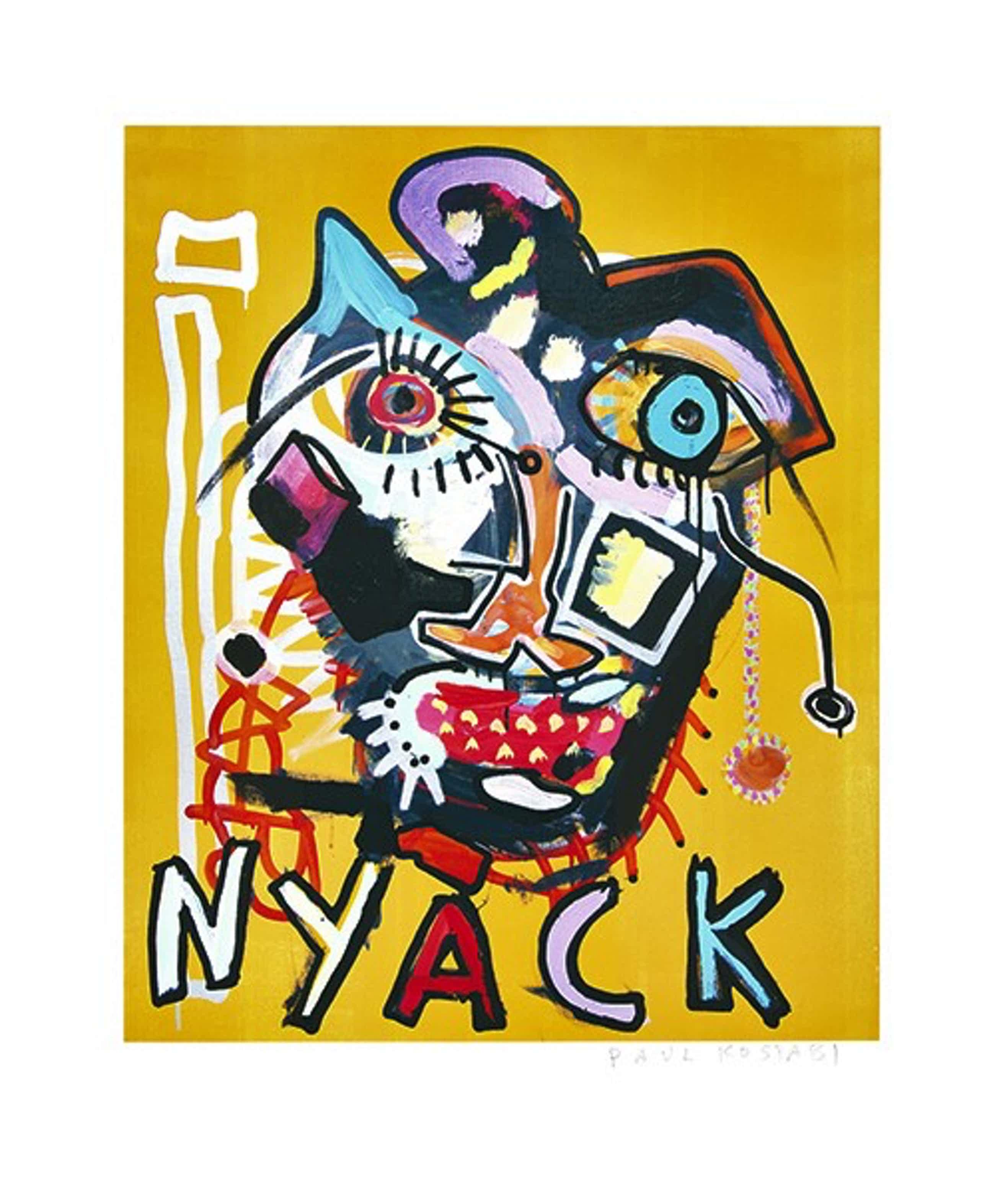 Paul Indrek Kostabi - Kleurengiclee NEW YORK Handgesigneerd SLECHTS 15 EX!! kopen? Bied vanaf 75!