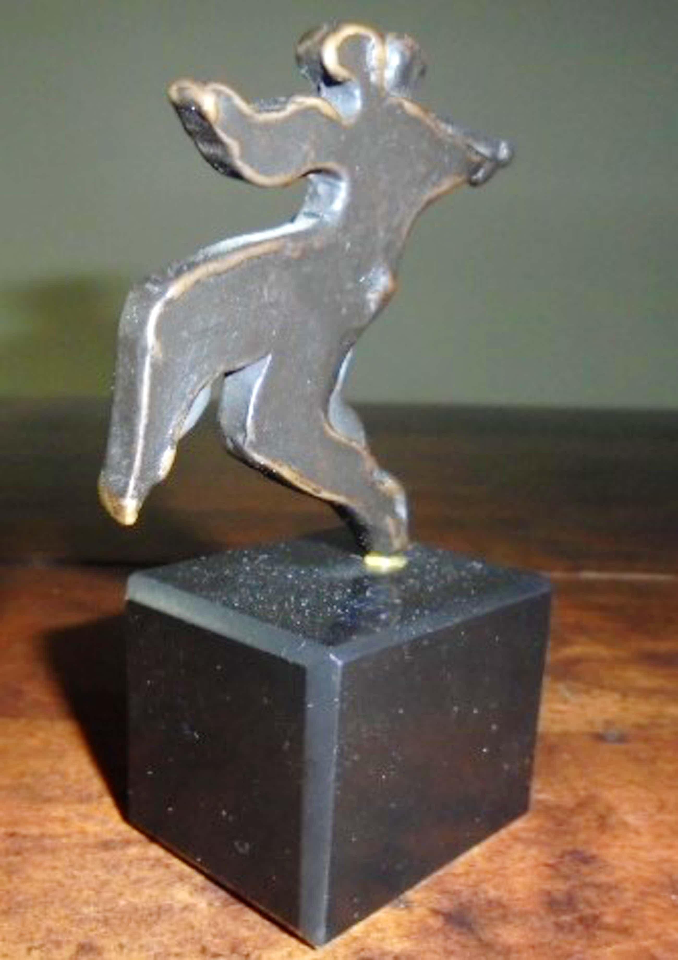 Eric Claus - brons op sokkel - Tango - prachtig patina! kopen? Bied vanaf 175!