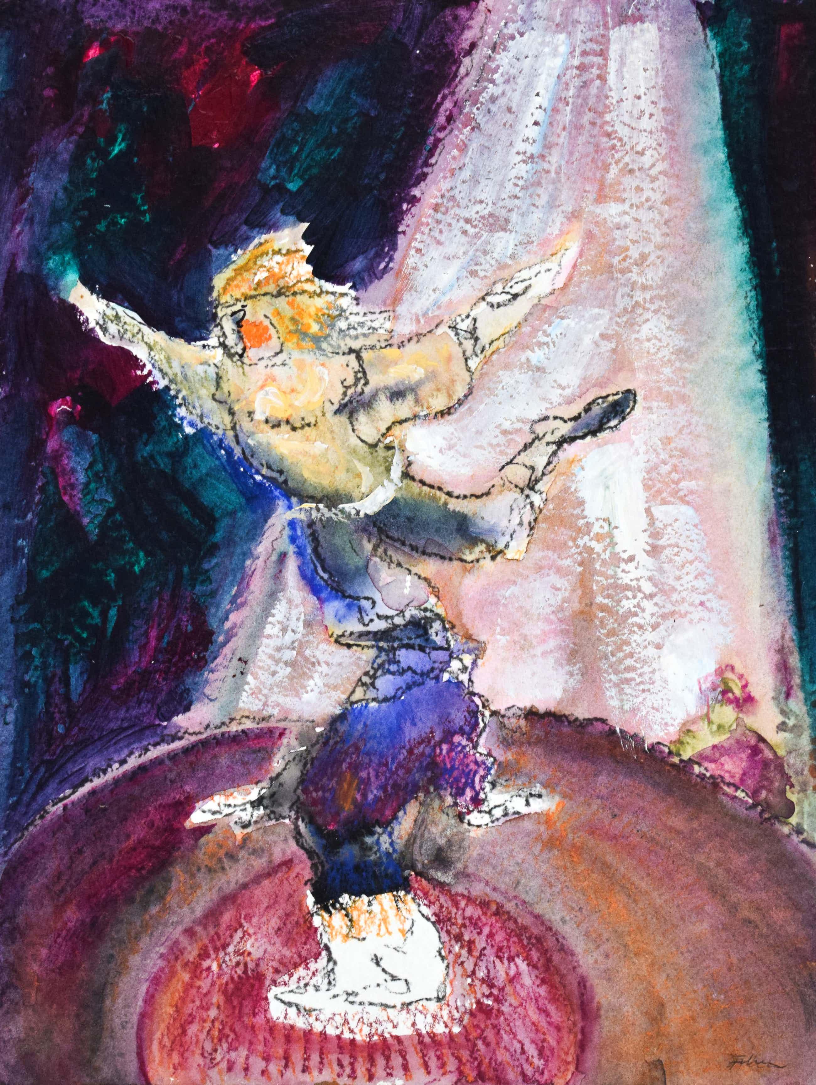 Luis Filcer - Dansende Clowns - Fraai ingelijst kopen? Bied vanaf 150!