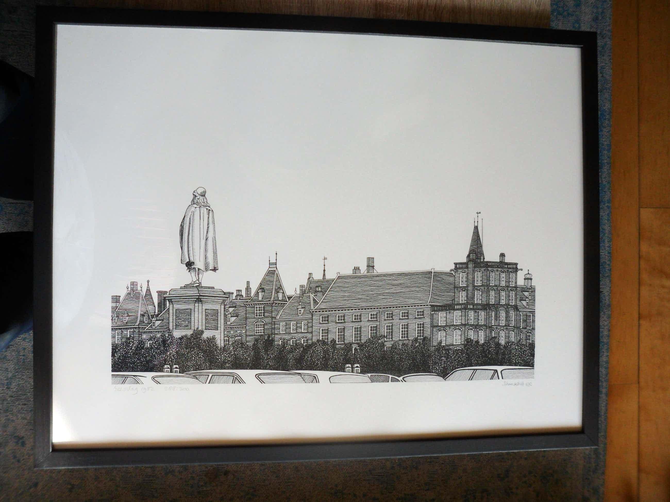 Sees Vlag - Zeefdruk, Plein met beeld van Johan de Witt kopen? Bied vanaf 80!