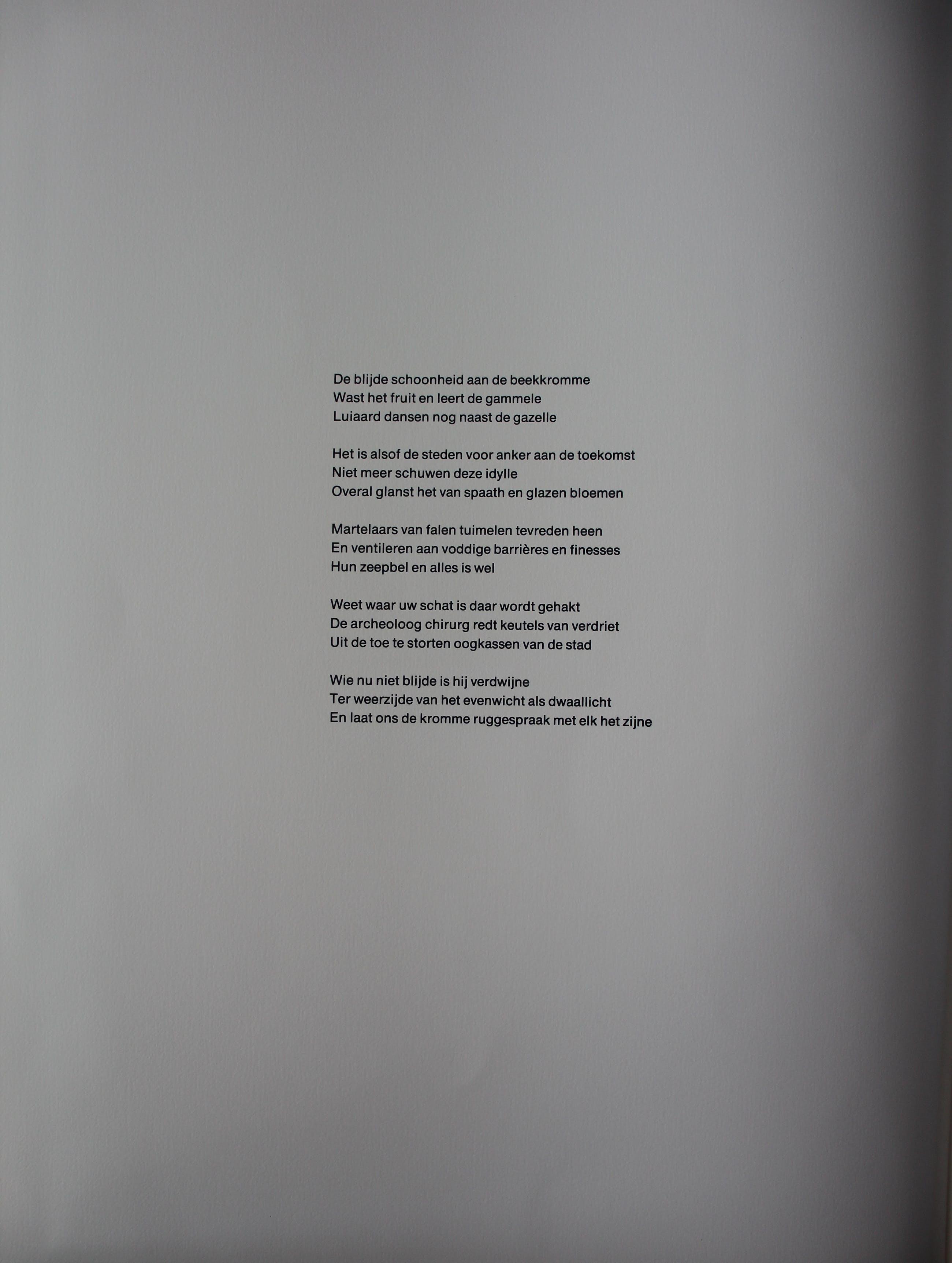Lucebert - Ets: Paradijs + gedicht - 1981 kopen? Bied vanaf 150!