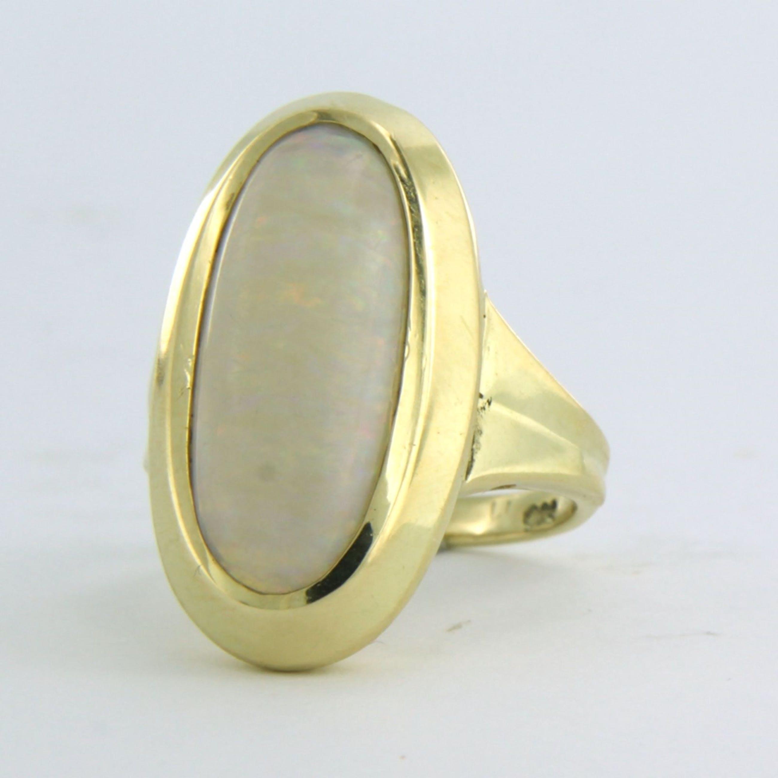 14k geel gouden ring bezet met opaal - rm 15,75(49) kopen? Bied vanaf 250!