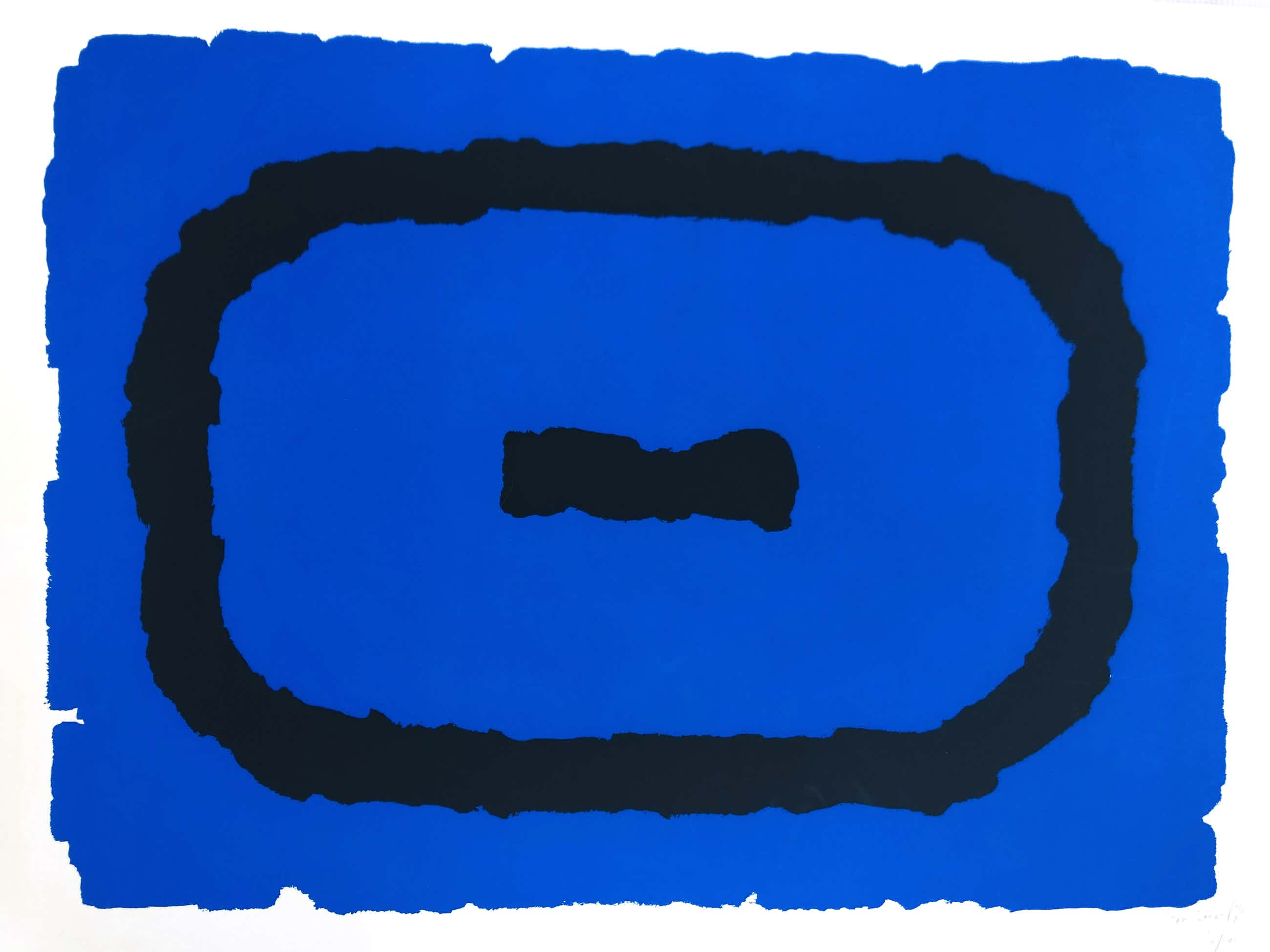 Bram Bogart - Figuur in blauw en zwart ( prent 190) kopen? Bied vanaf 395!