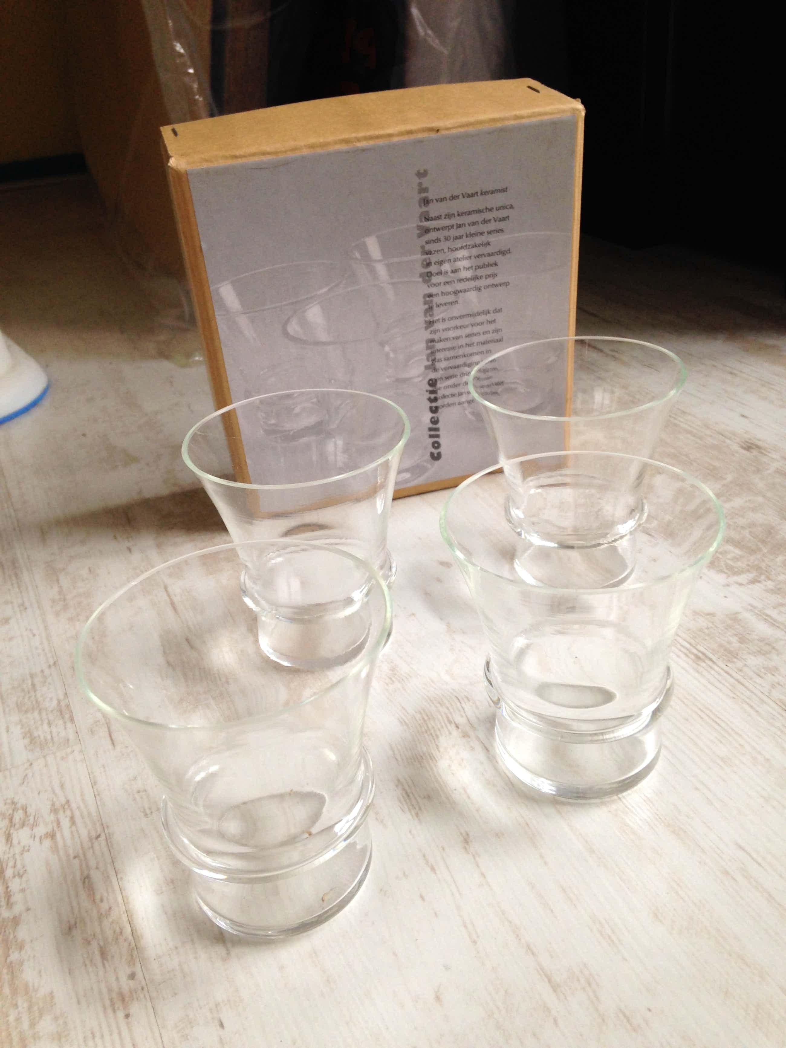 Jan van der Vaart - set van 4 wijn- sherryglazen (limited edition) kopen? Bied vanaf 49!