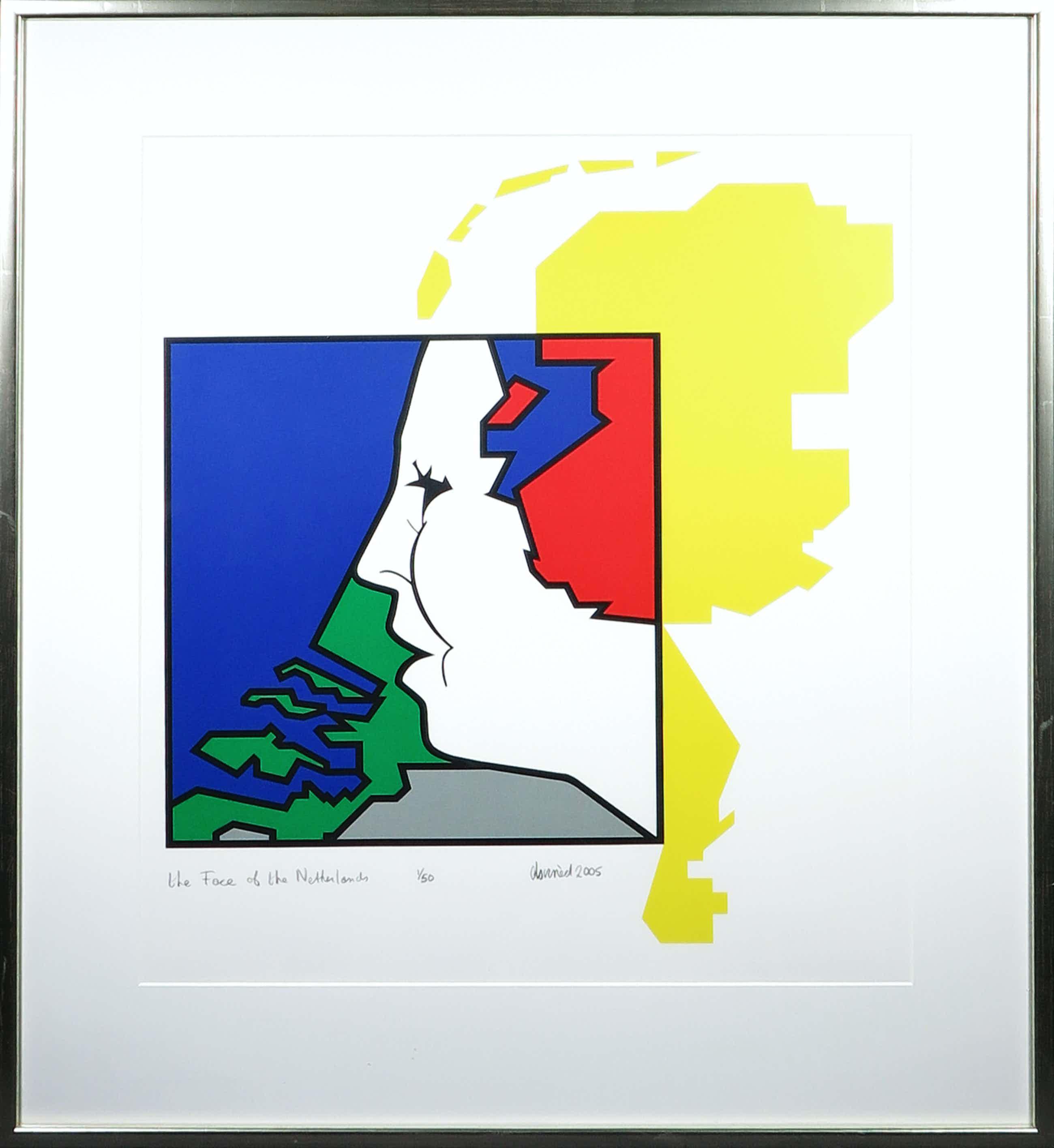 Ed van Doorn - Zeefdruk, The face of the Netherlands - Ingelijst kopen? Bied vanaf 40!