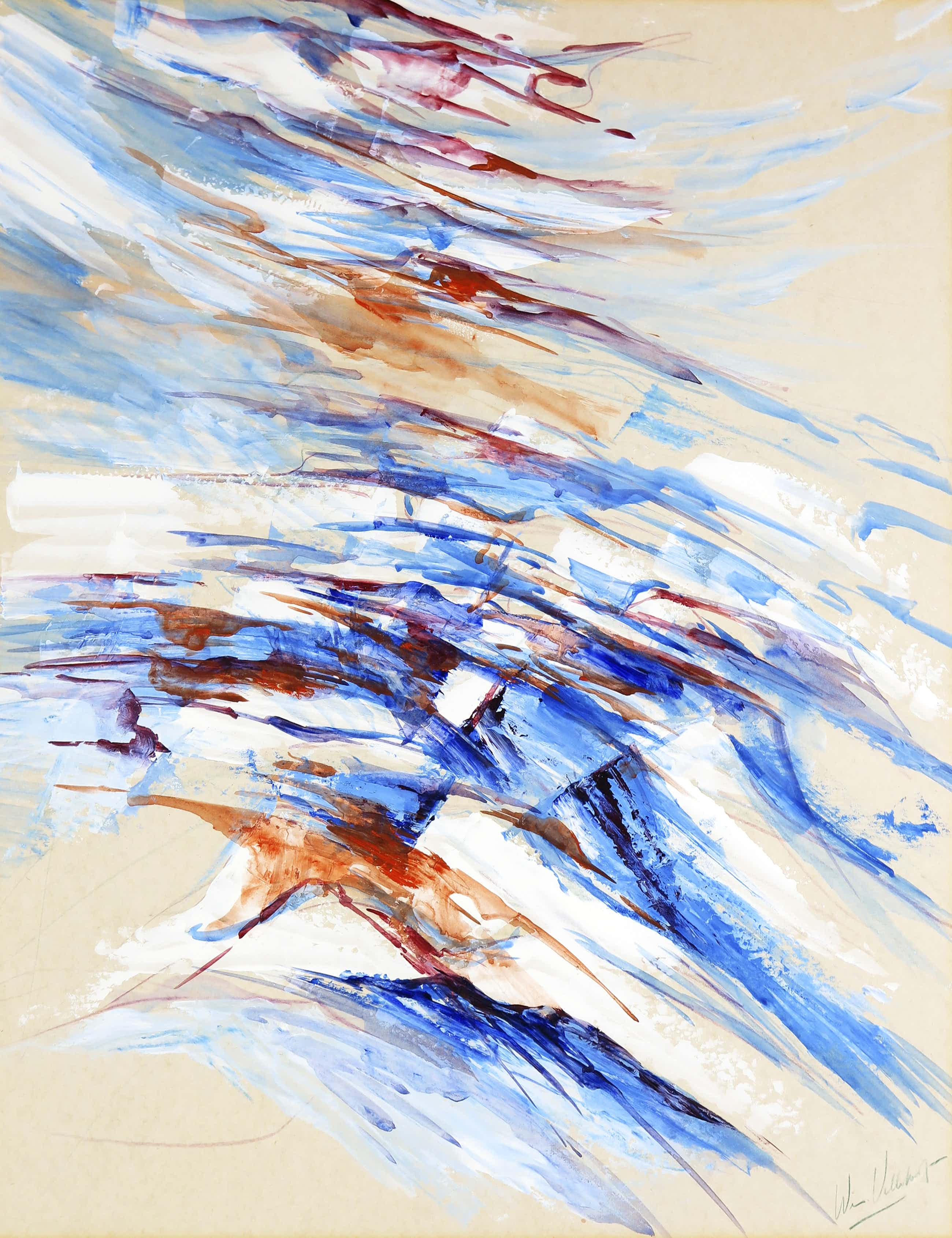 Niet of onleesbaar gesigneerd - Gouache, Abstracte compositie kopen? Bied vanaf 20!