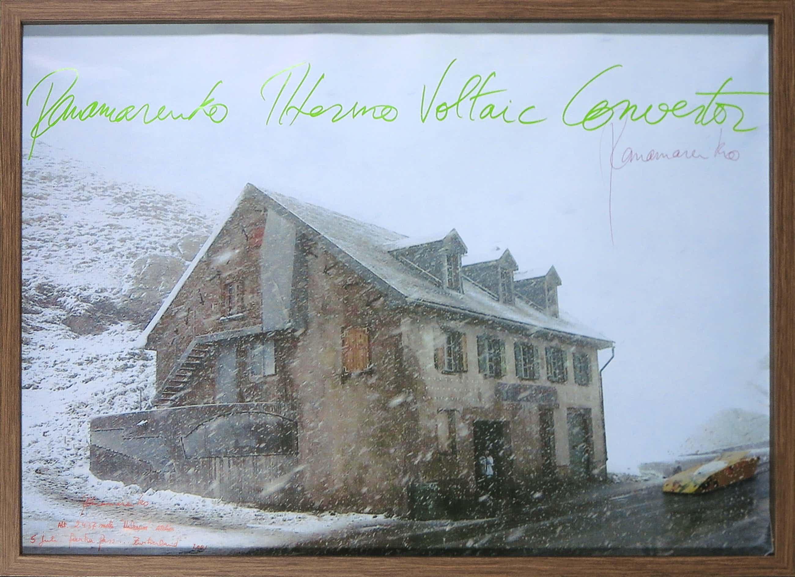 Panamarenko - Handgesigneerd affiche, Panamarenko Thermo Voltaic Convertor - Ingelijst kopen? Bied vanaf 150!
