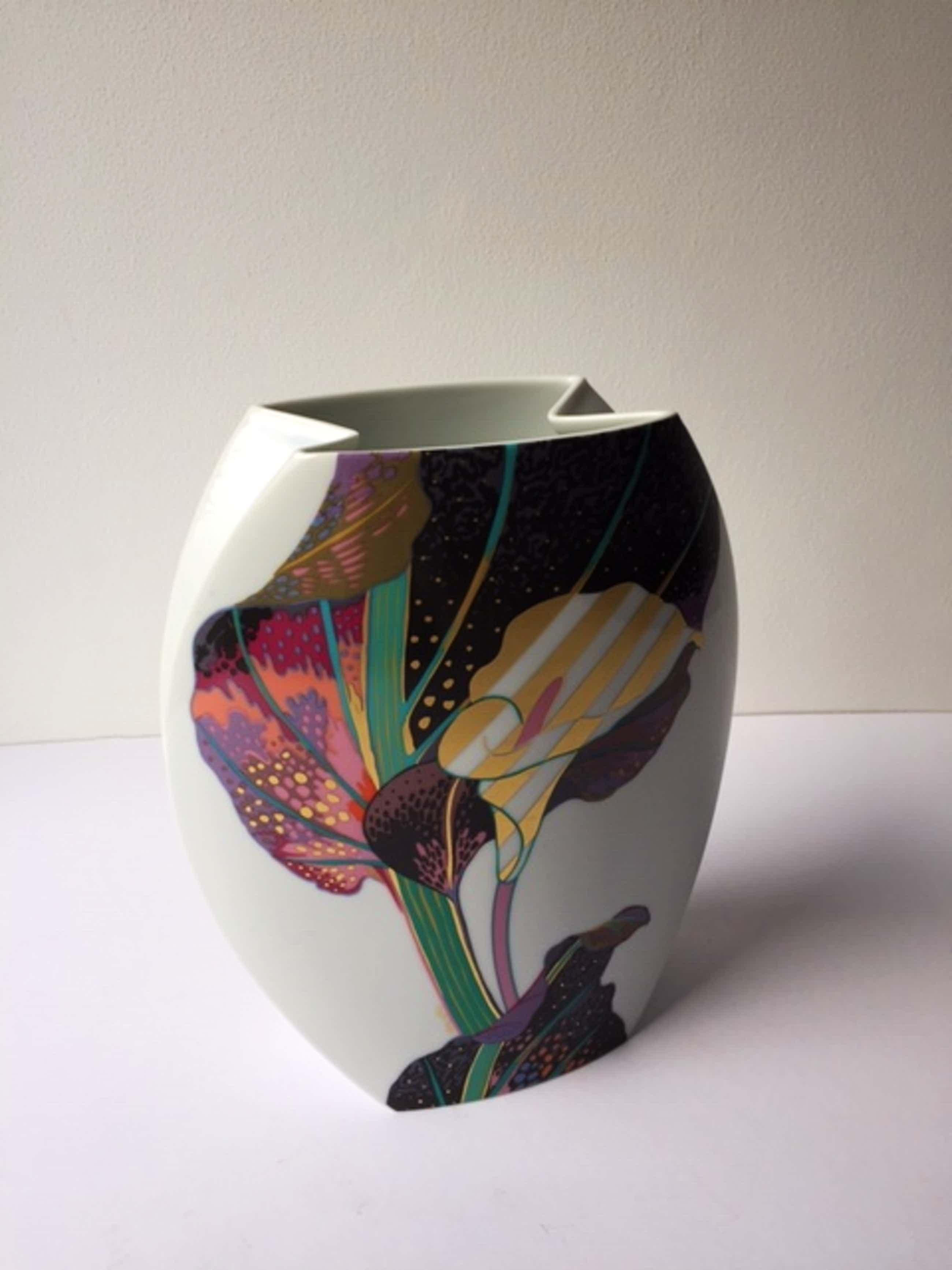 Jan van der Vaart - Grote Taurusvaas h 28 cm decoratie Brigitte Doege Porselein Rosenthal kopen? Bied vanaf 95!