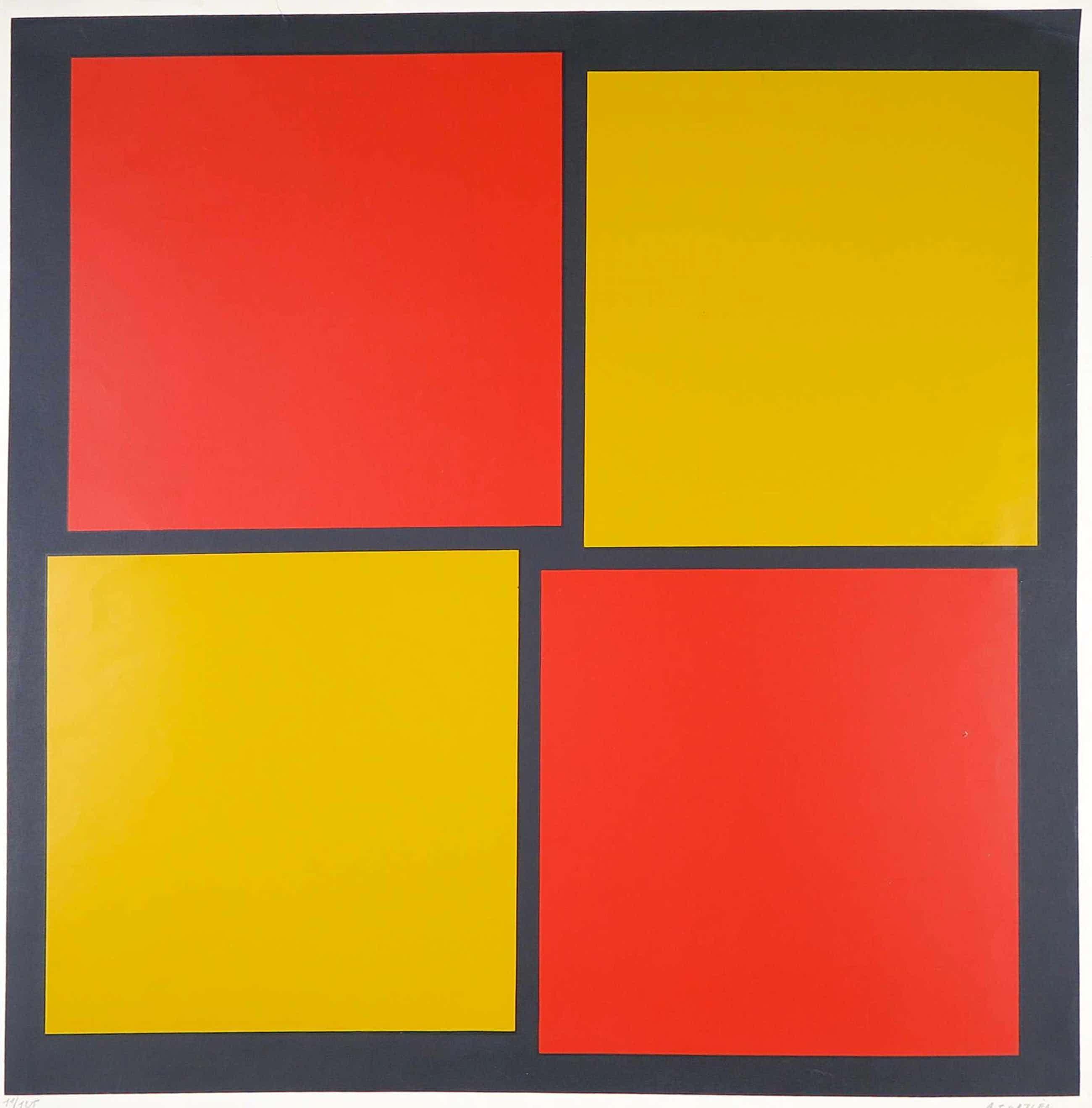 Amedee Cortier - Zeefdruk, Abstracte compositie (uitgave voor het SMAK) kopen? Bied vanaf 100!