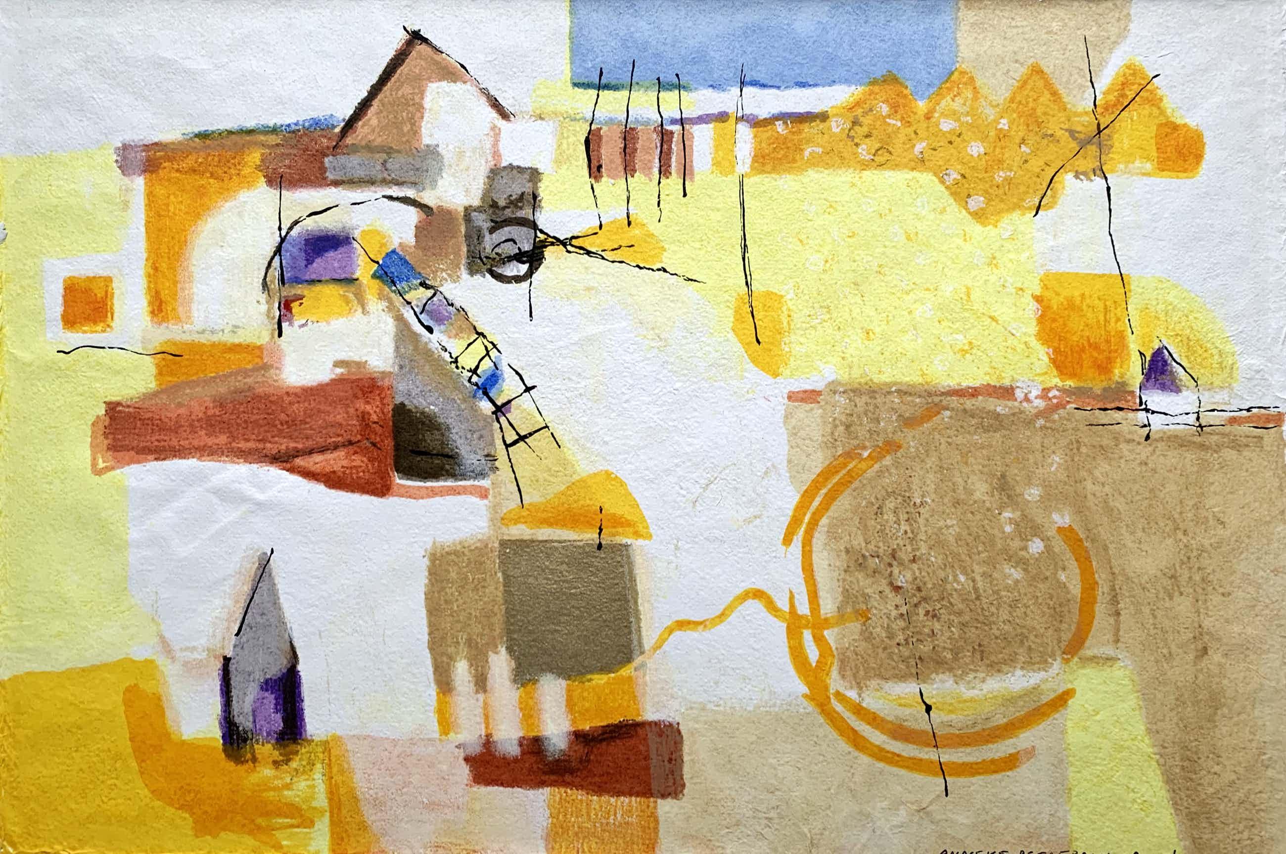 Anneke Peereboom - kleurenzeefdruk | 'Luce del Giorno III' | 1998 kopen? Bied vanaf 60!
