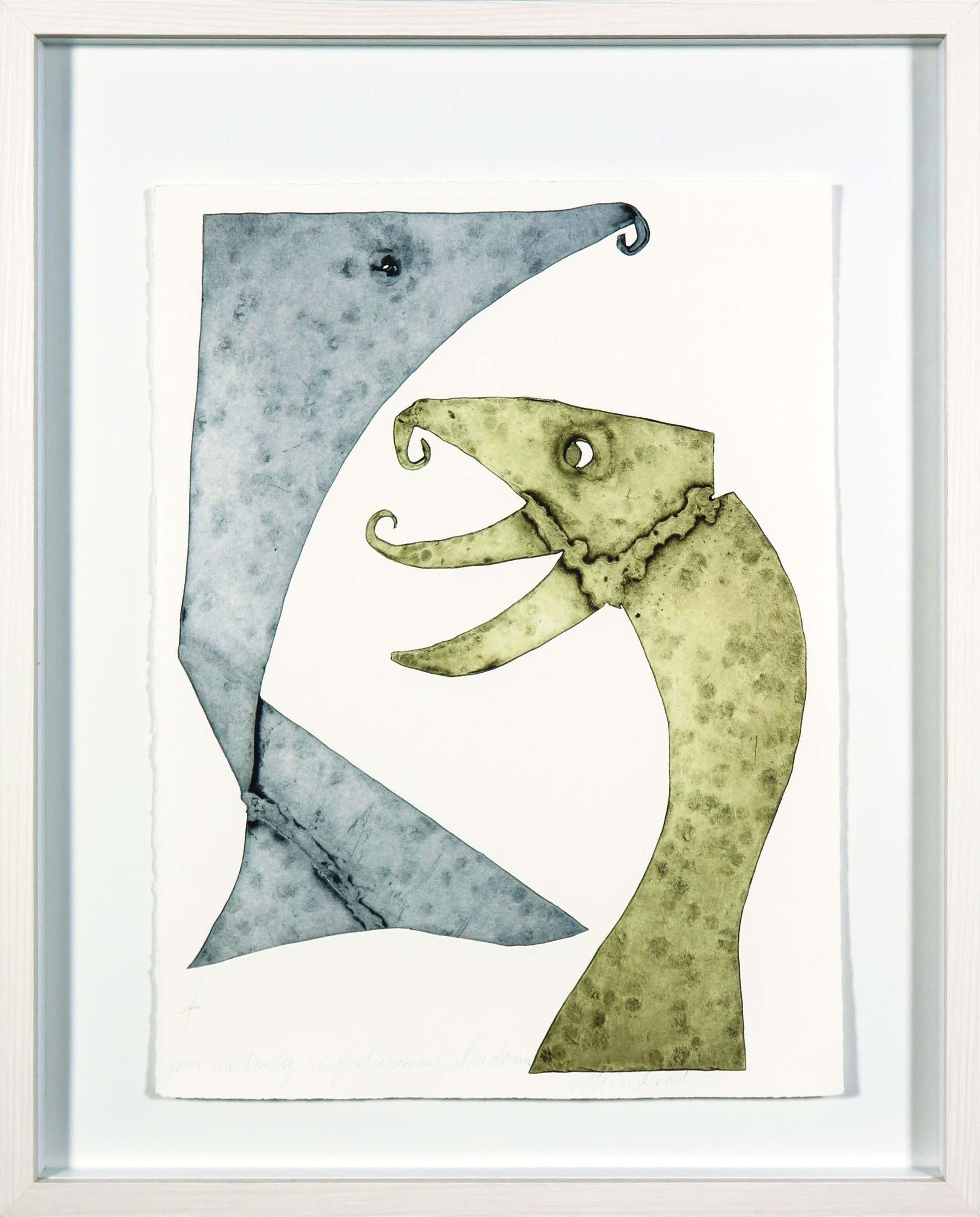 Reinhoud D'Haese - Aquatint metaaldruk met twee figuren - Ingelijst kopen? Bied vanaf 110!