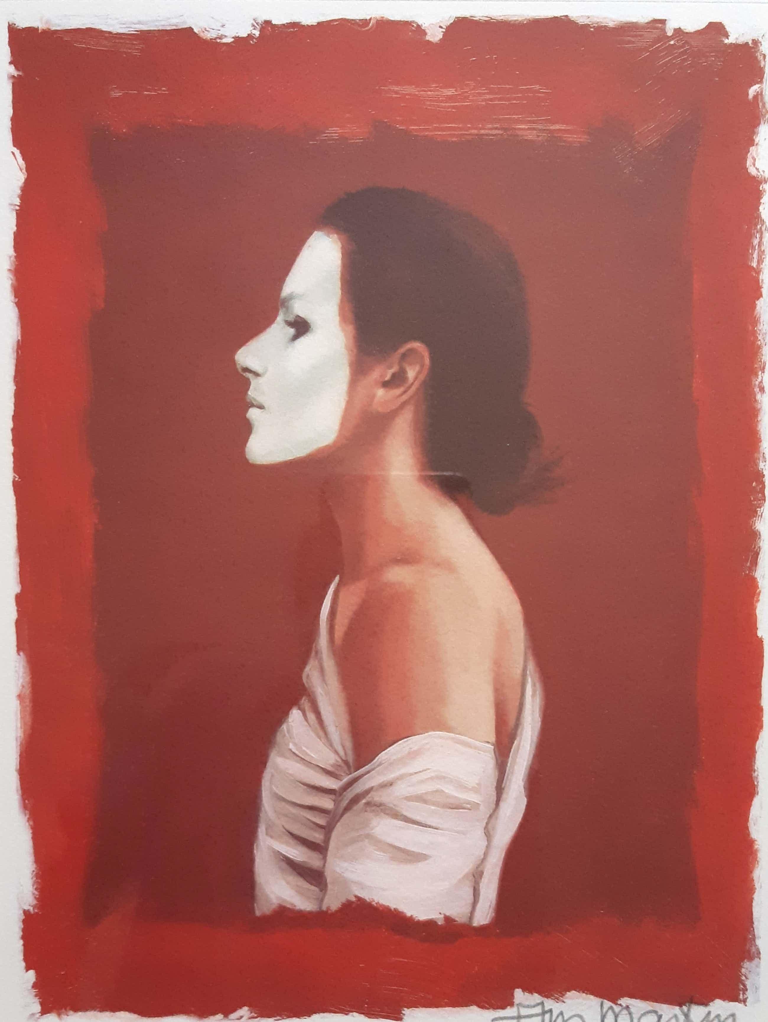 Ans Markus - Zelfportret met wit masker kopen? Bied vanaf 160!