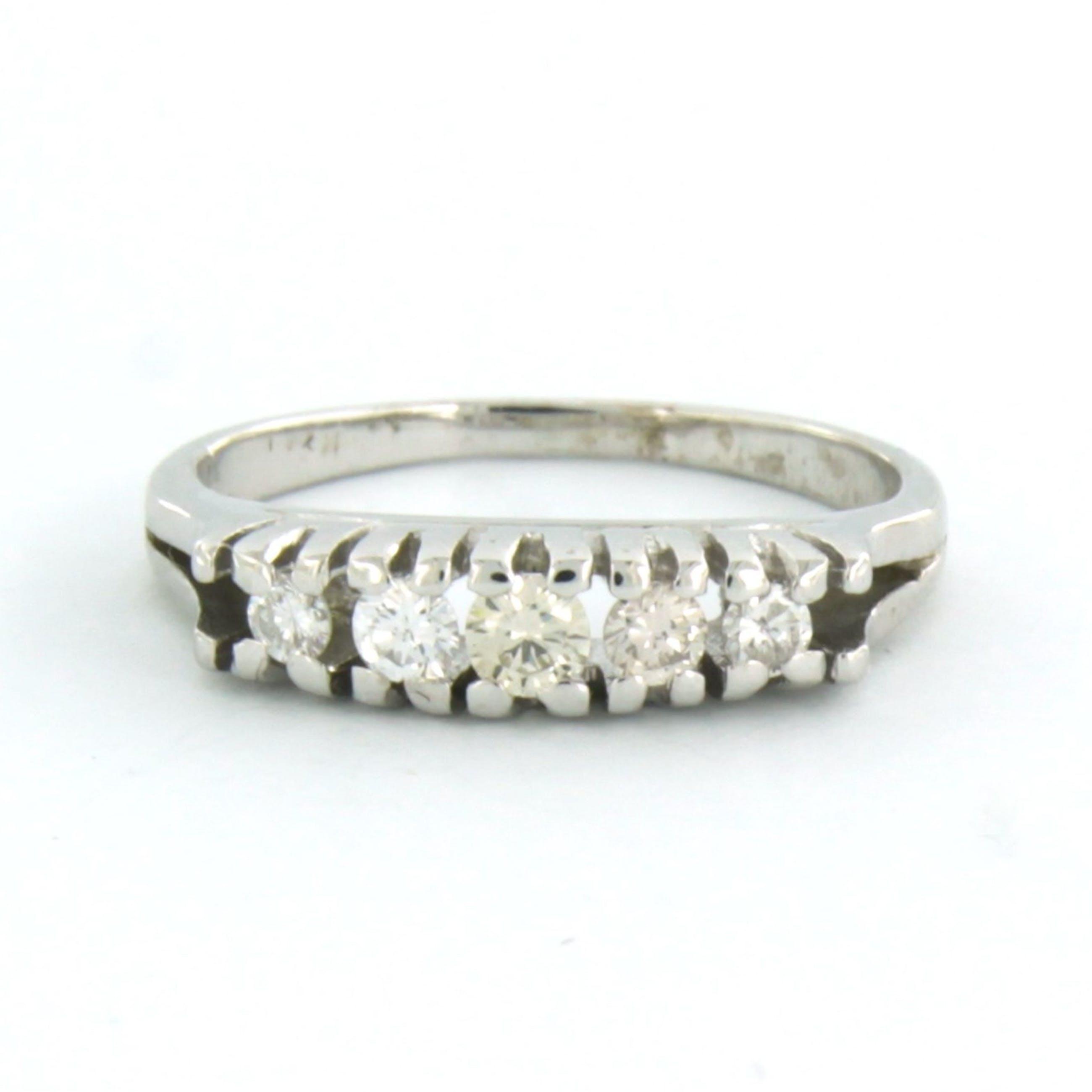 14k wit gouden ring bezet met briljant geslepen diamant 0.25ct kopen? Bied vanaf 260!