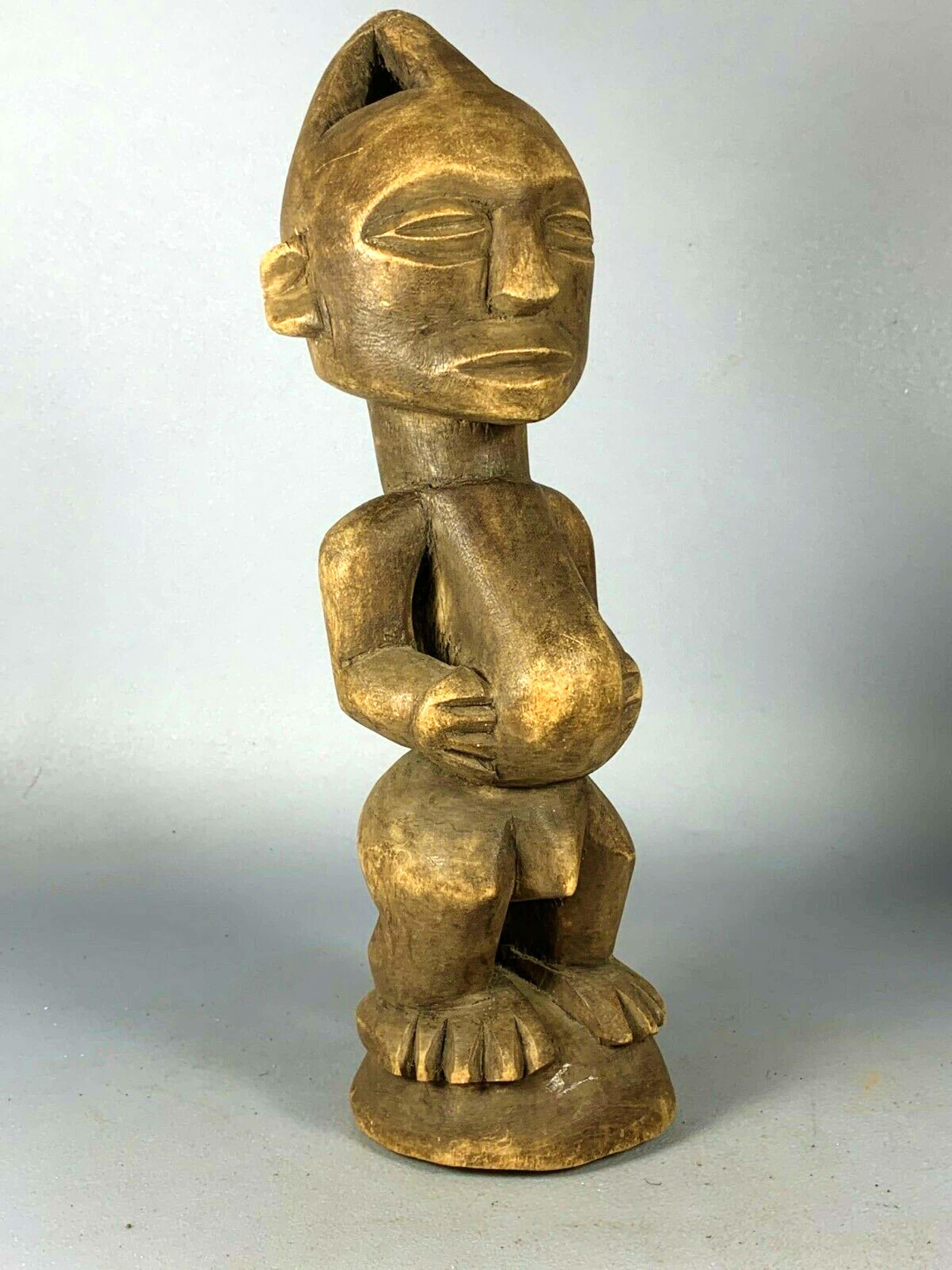 Luba - 200966 - Tribal used African wooden Luba statue - Congo. kopen? Bied vanaf 45!