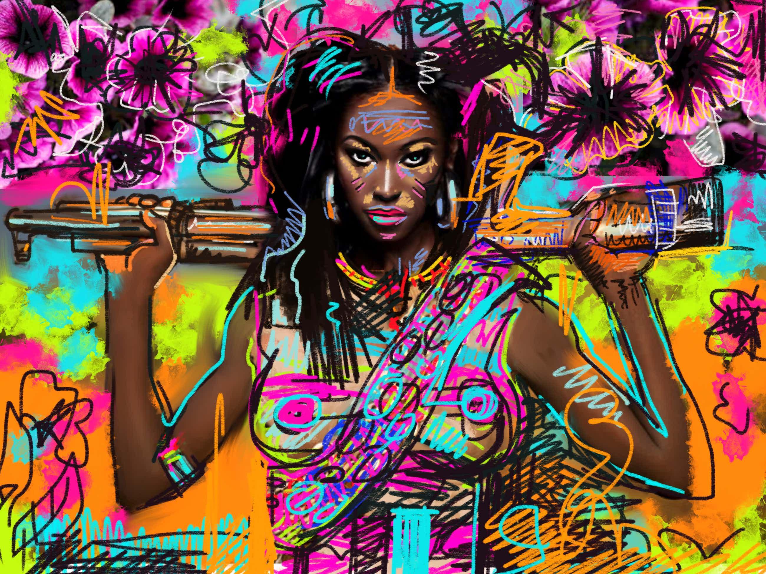Peter Klashorst - Pop Art Woman kopen? Bied vanaf 49!