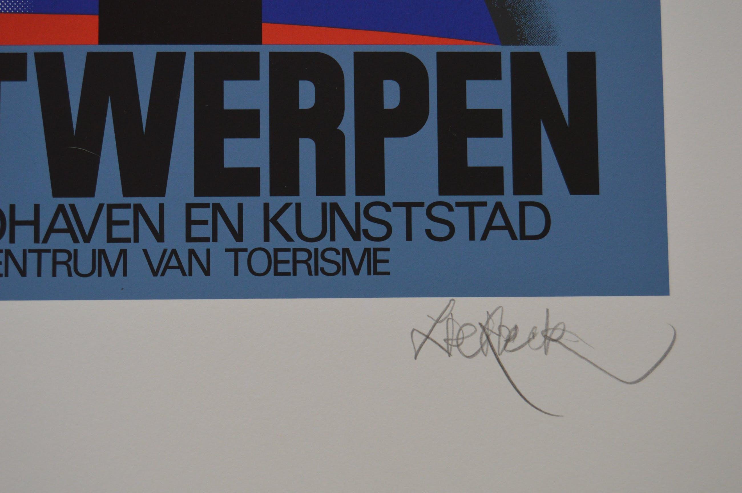 Lucien De Roeck - Lucien de Roeck - zeefdruk - Antwerpen, kunststad, centrum van toerisme kopen? Bied vanaf 70!