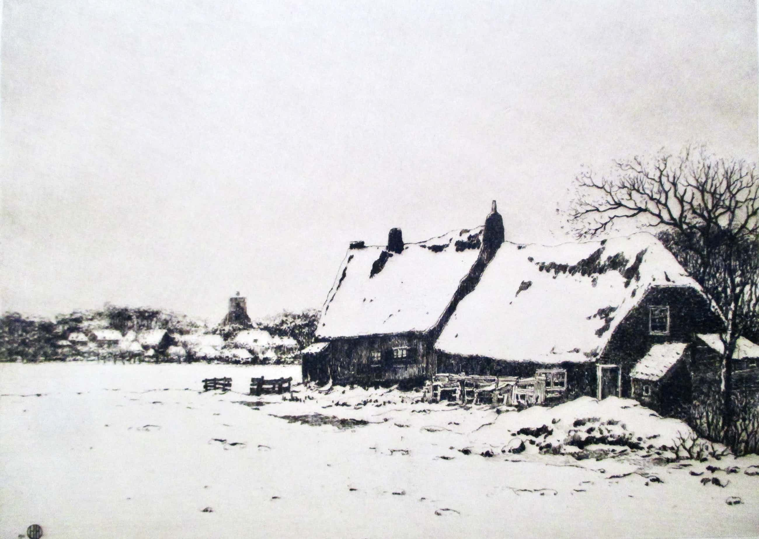 Herman Heuff - Ets boerderij in de sneeuw kopen? Bied vanaf 40!