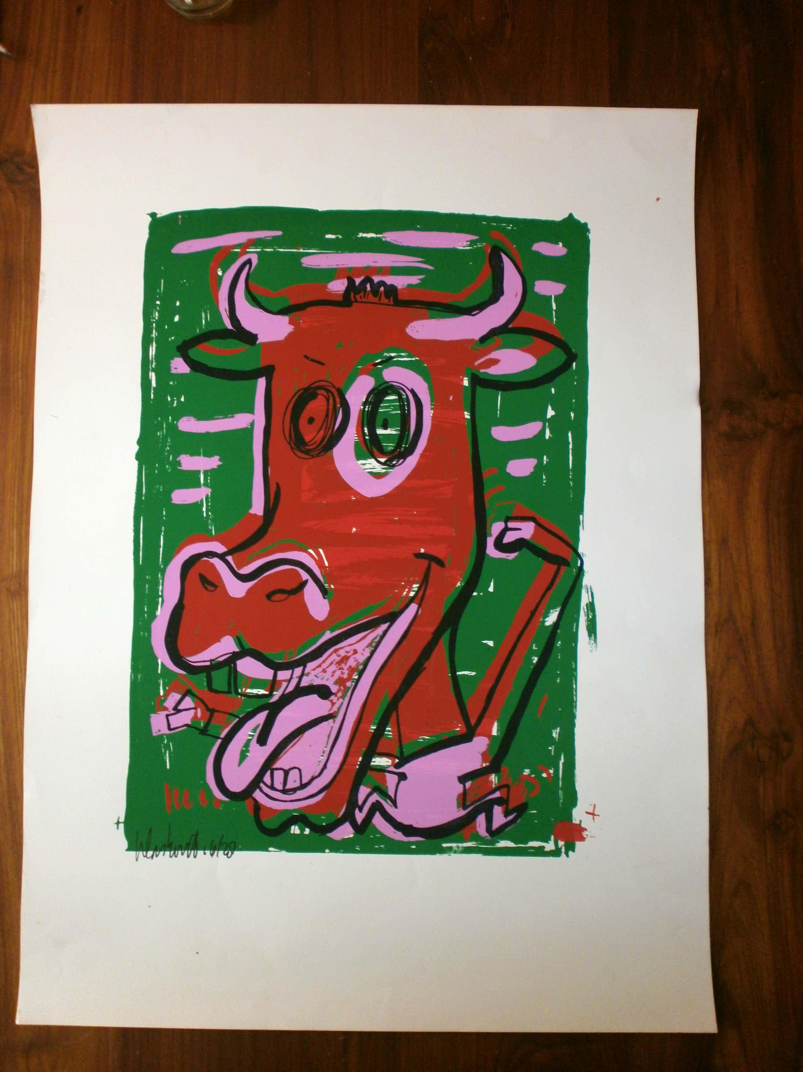 Peter Klashorst - mad cow green [beperkte oplage] kopen? Bied vanaf 35!