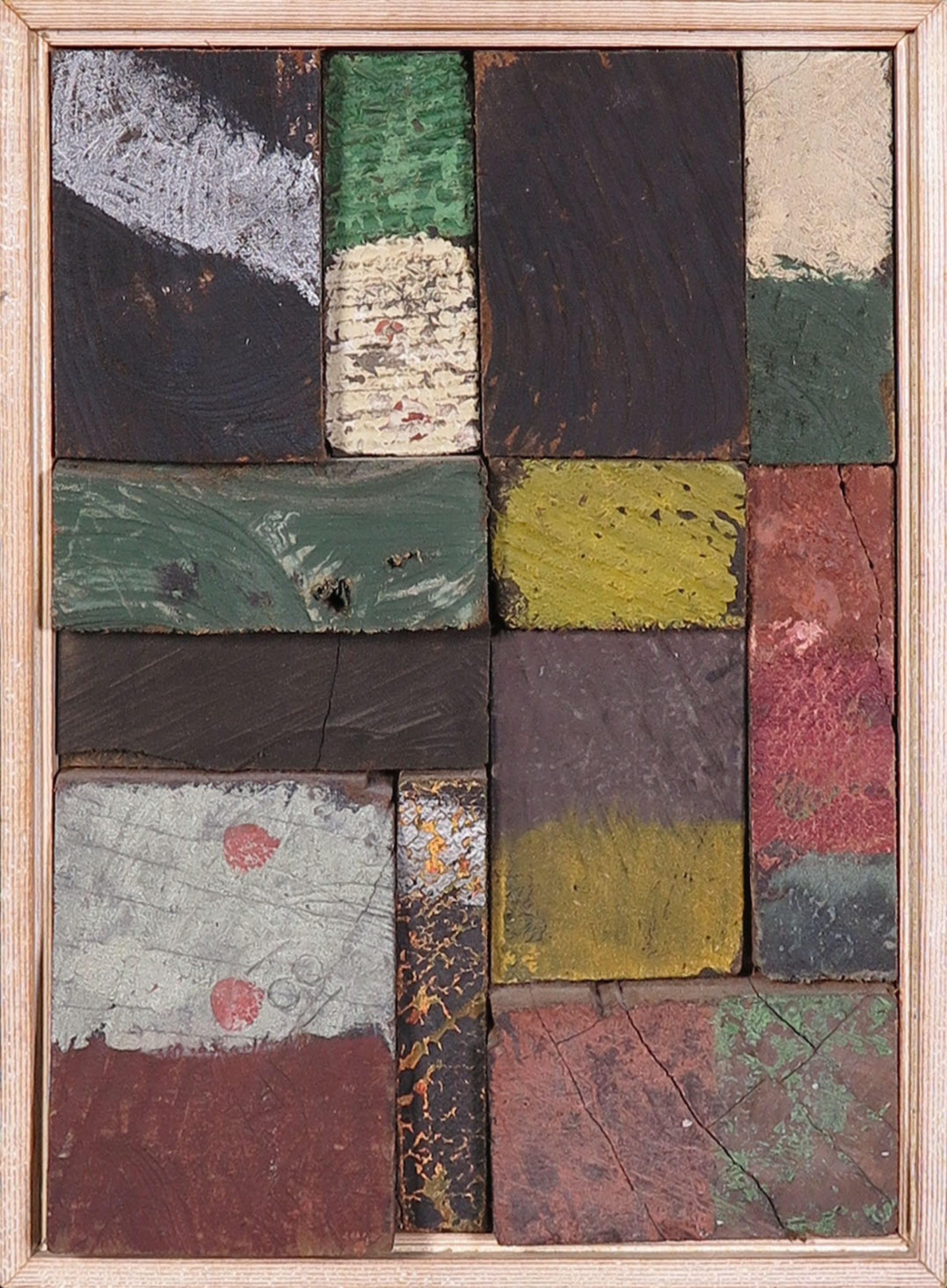 Christiaan Paul Damste - Collage van (beschilderd) hout, Wand - Ingelijst kopen? Bied vanaf 350!
