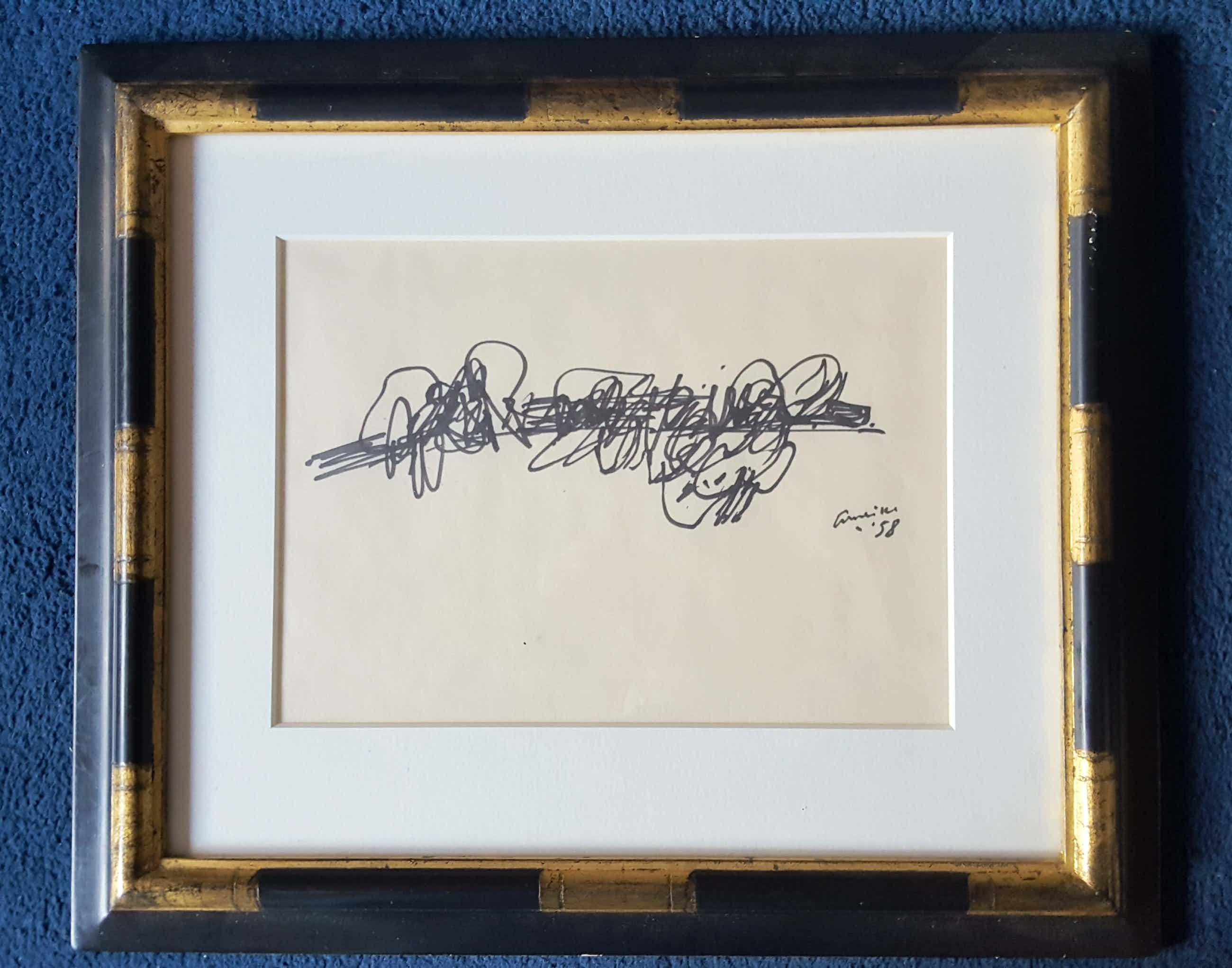 Corneille - inkttekening uit 1958 handgesigneerd kopen? Bied vanaf 800!