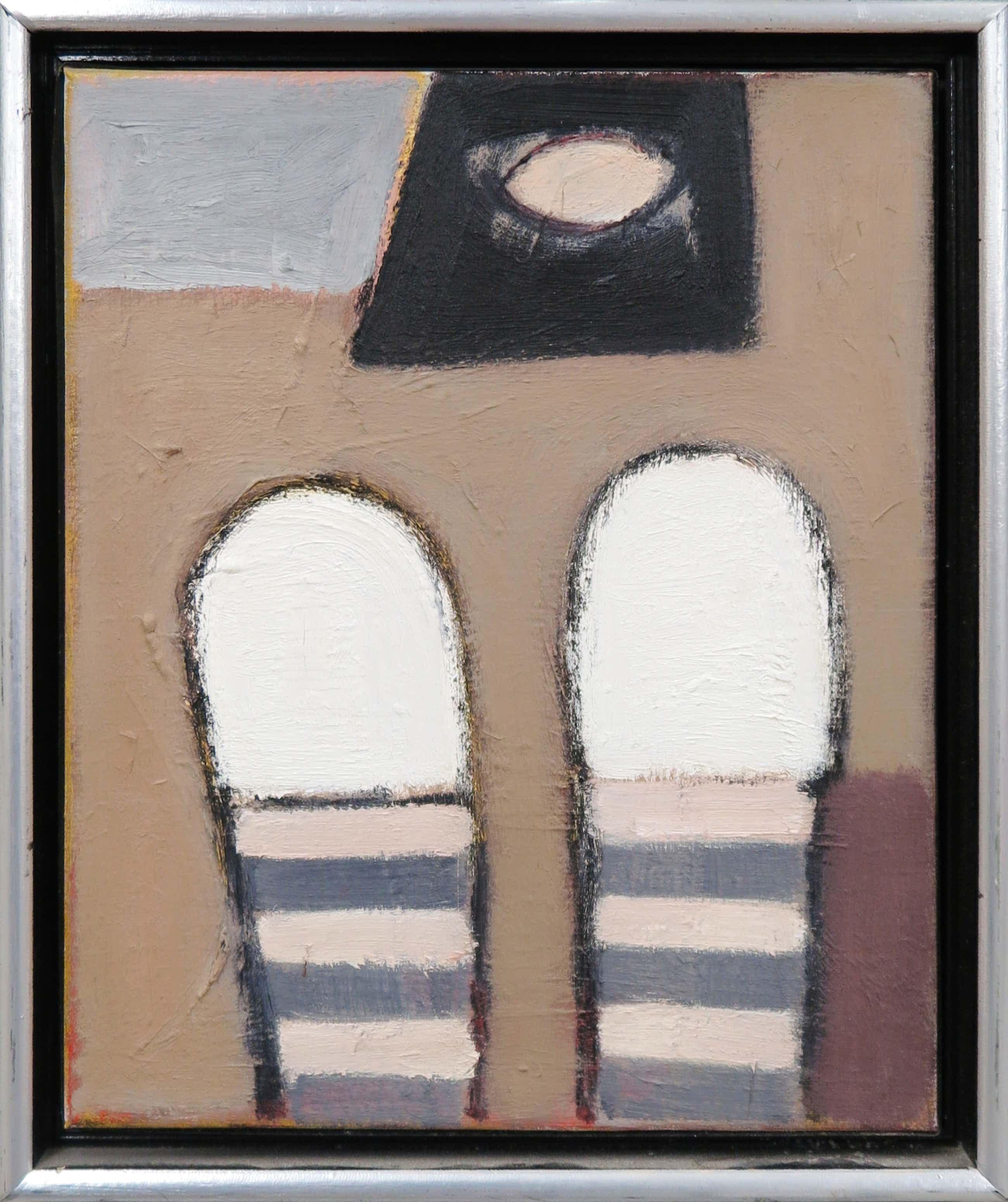 Ed Dukkers - Olieverf op doek, Abstracte compositie kopen? Bied vanaf 280!