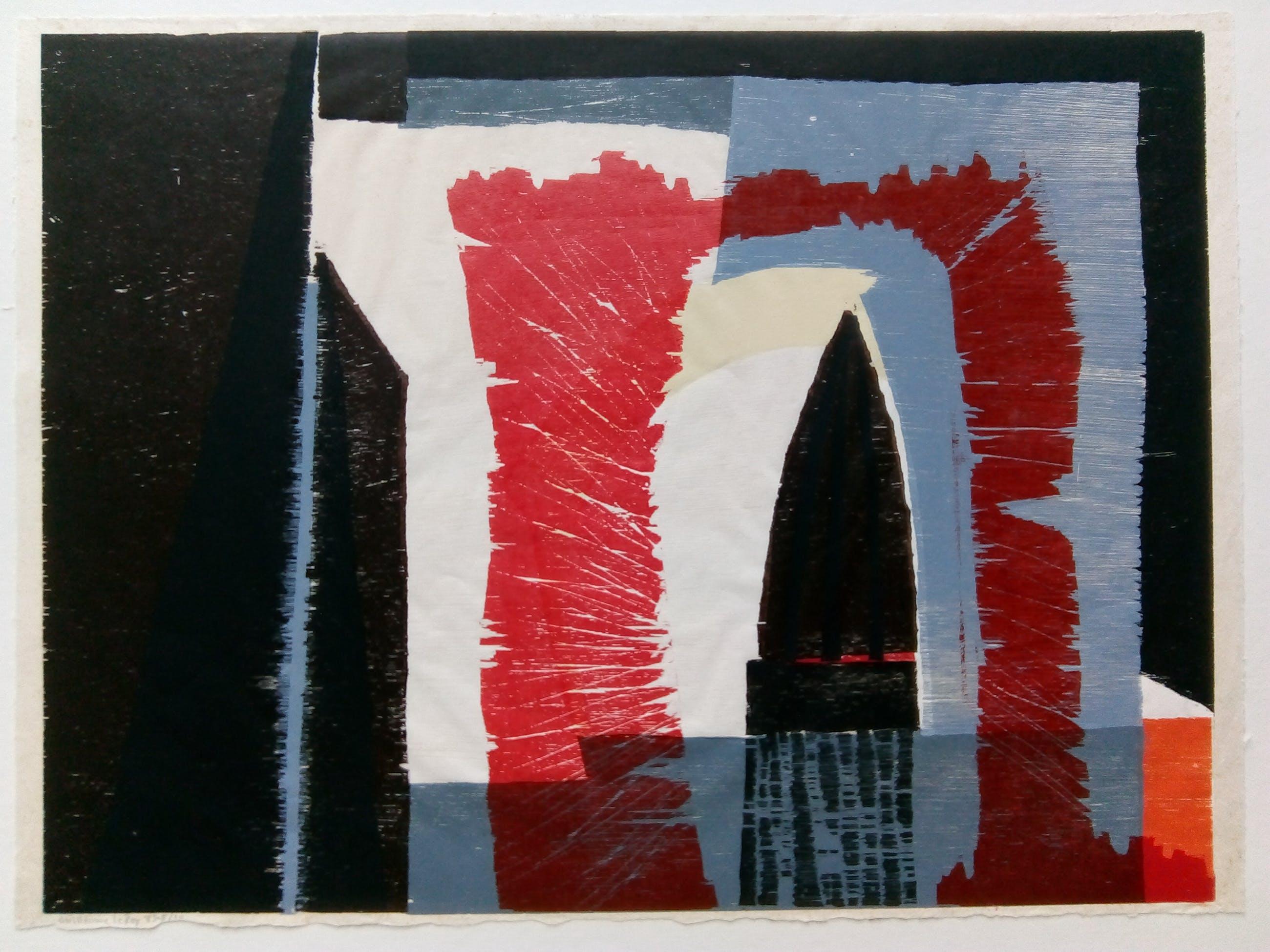 Guillaume Le Roy - Abstract werk uit 1983 . kopen? Bied vanaf 100!