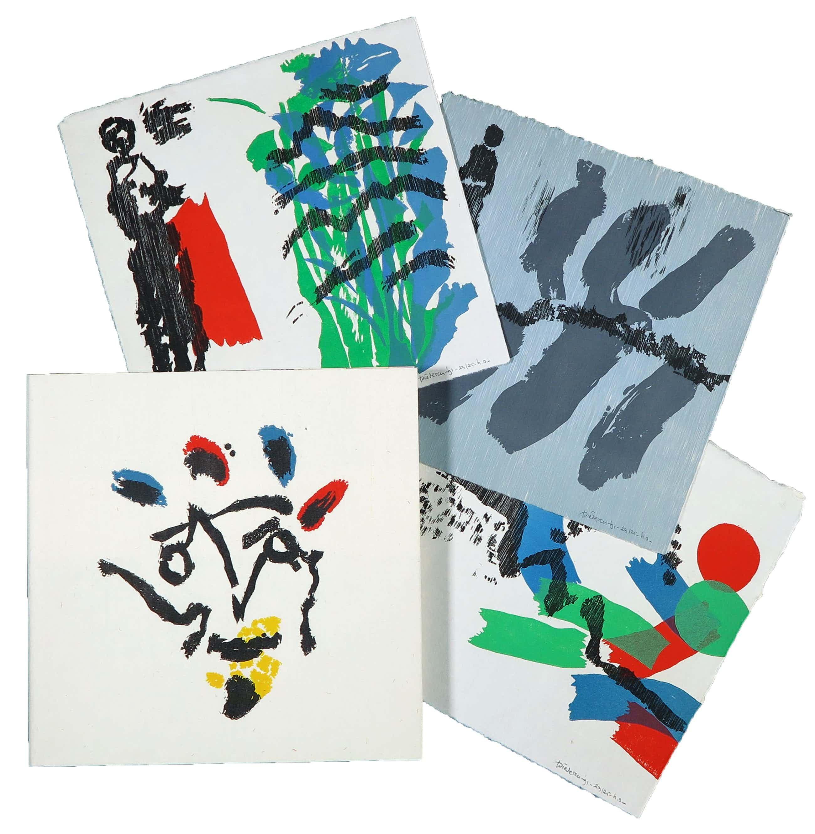 Jef Diederen - Luxe uitgave met drie losse hout- en linosnedes en tekst van o.a. Lucebert kopen? Bied vanaf 100!