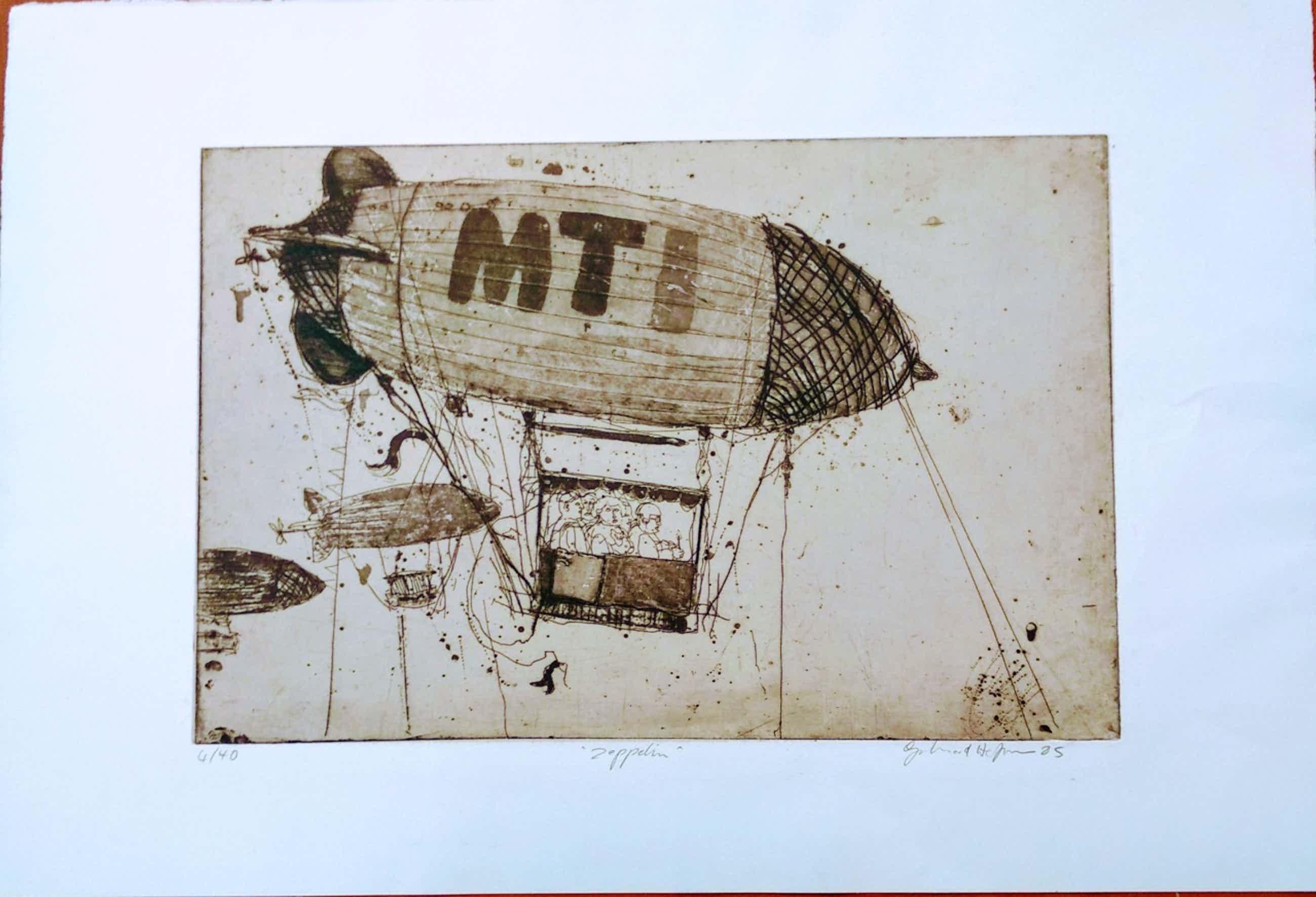 Gerhard Hofmann - Zeppelin, Radierung 85 kopen? Bied vanaf 110!