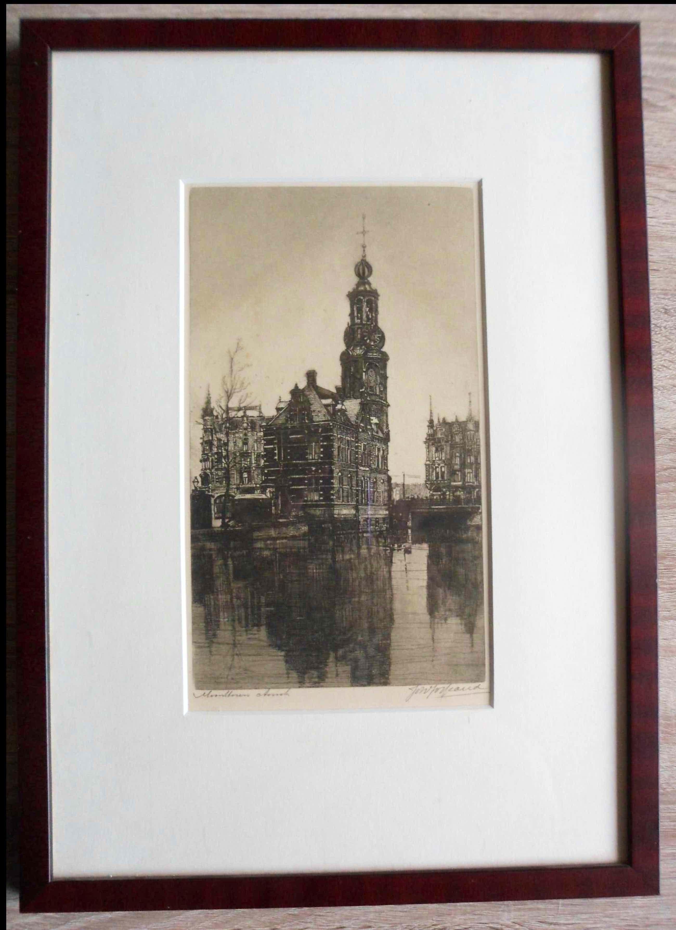 Johannes Josseaud - Ets, Munttoren te Amsterdam kopen? Bied vanaf 47!