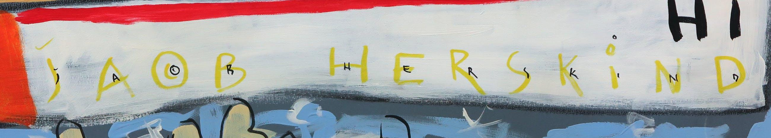 Jacob Herskind - Acryl op doek, Laugh!! - Ingelijst (Zeer groot) kopen? Bied vanaf 150!