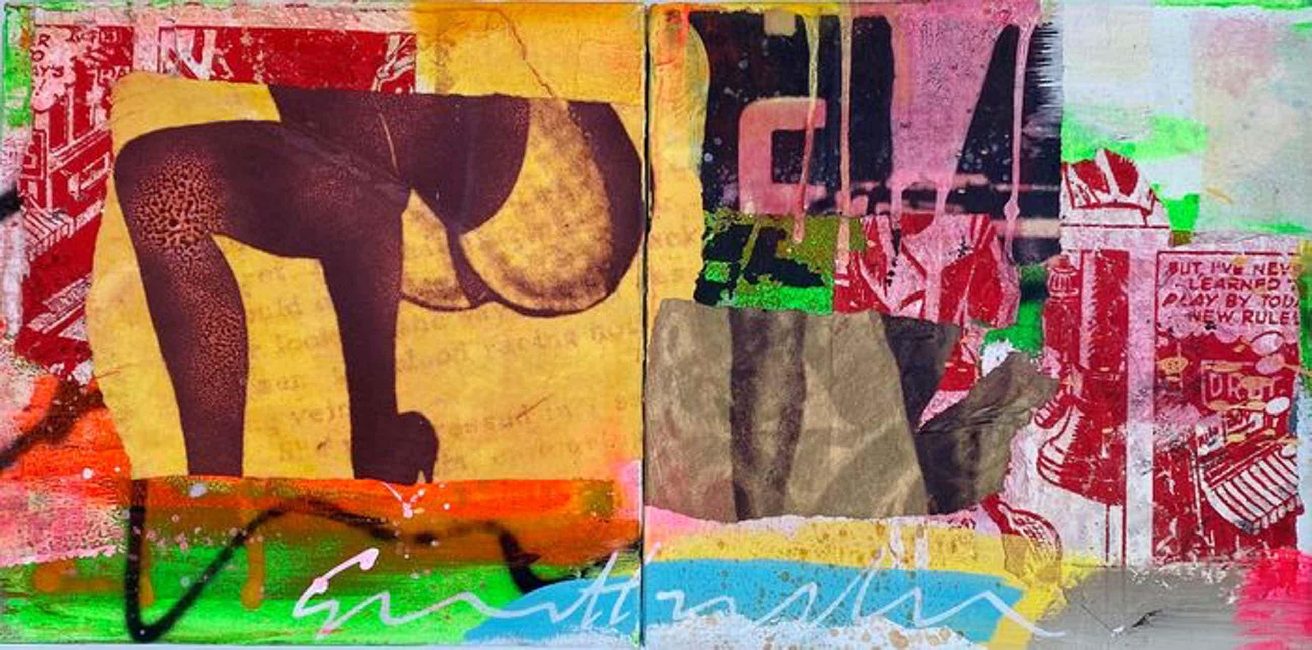George Heidweiller - 2-luik, twee schilderijen van 30x30cm. kopen? Bied vanaf 120!