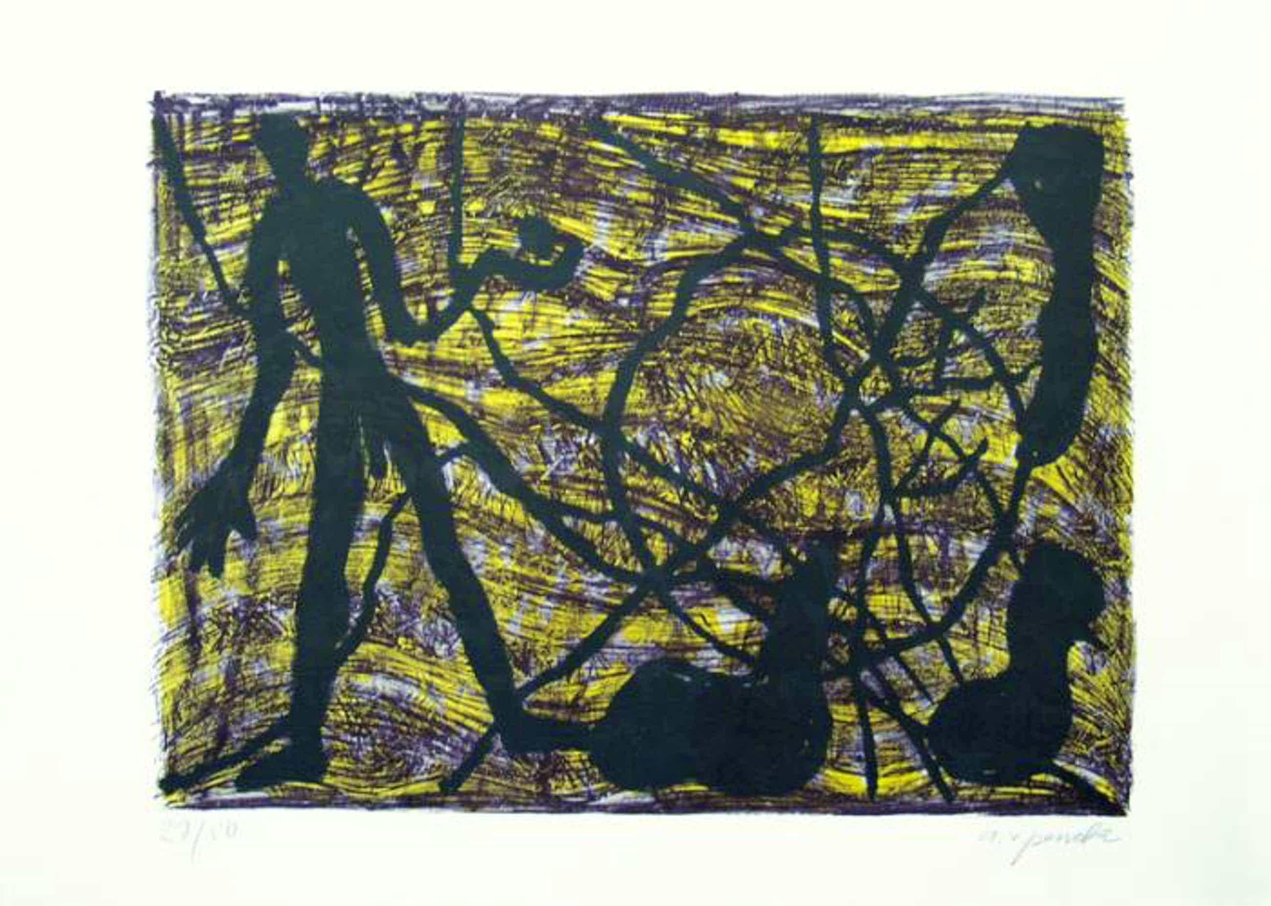 A.R. Penck - View of the Rocks, 1983 , handsigniert, 24/50 kopen? Bied vanaf 1190!