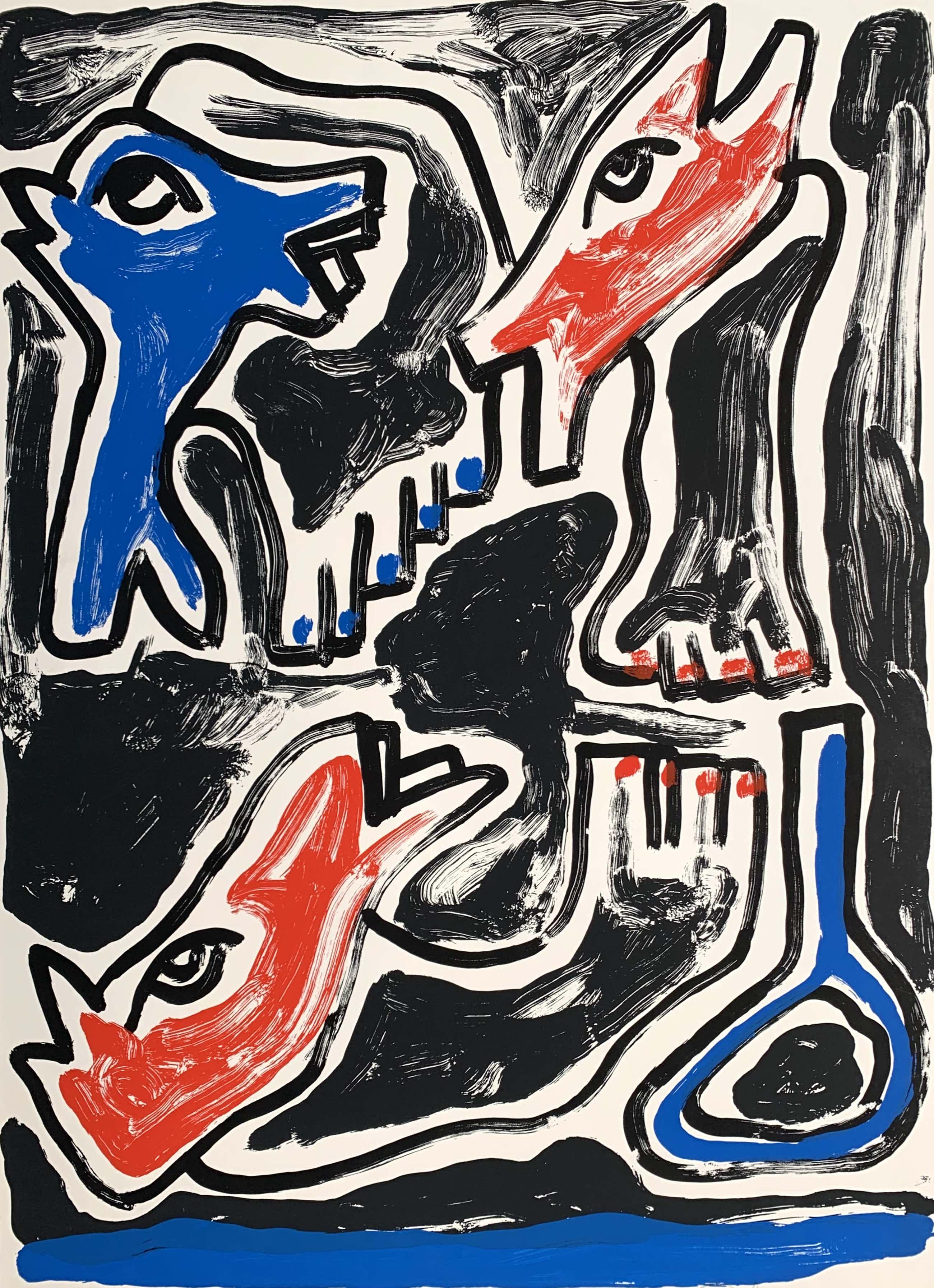 Peter Capiteyns - kleurenzeefdruk   'Zonder titel'   1983 (Kleine oplage) kopen? Bied vanaf 50!