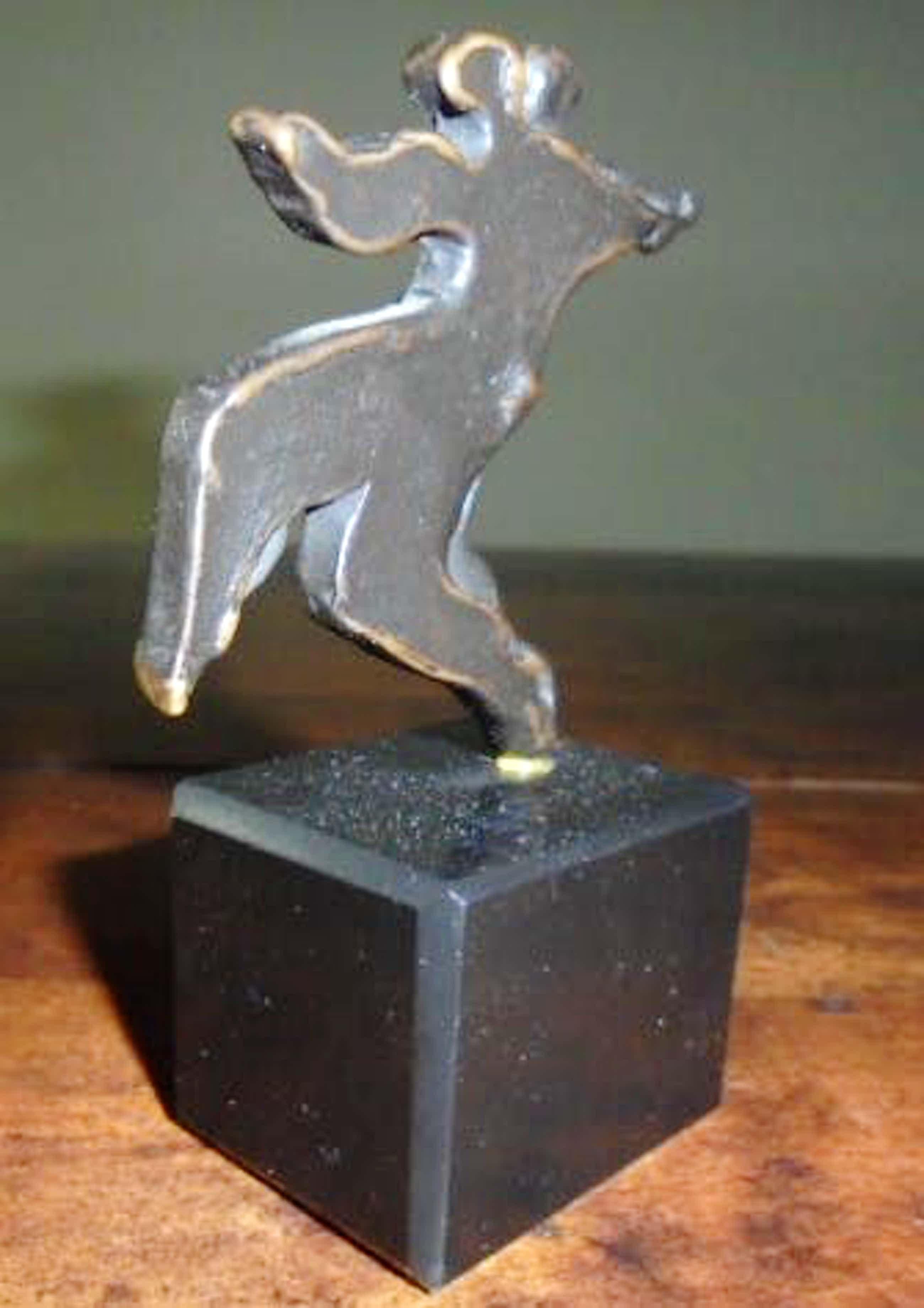 Eric Claus - brons op sokkel - Tango - prachtig patina! kopen? Bied vanaf 195!