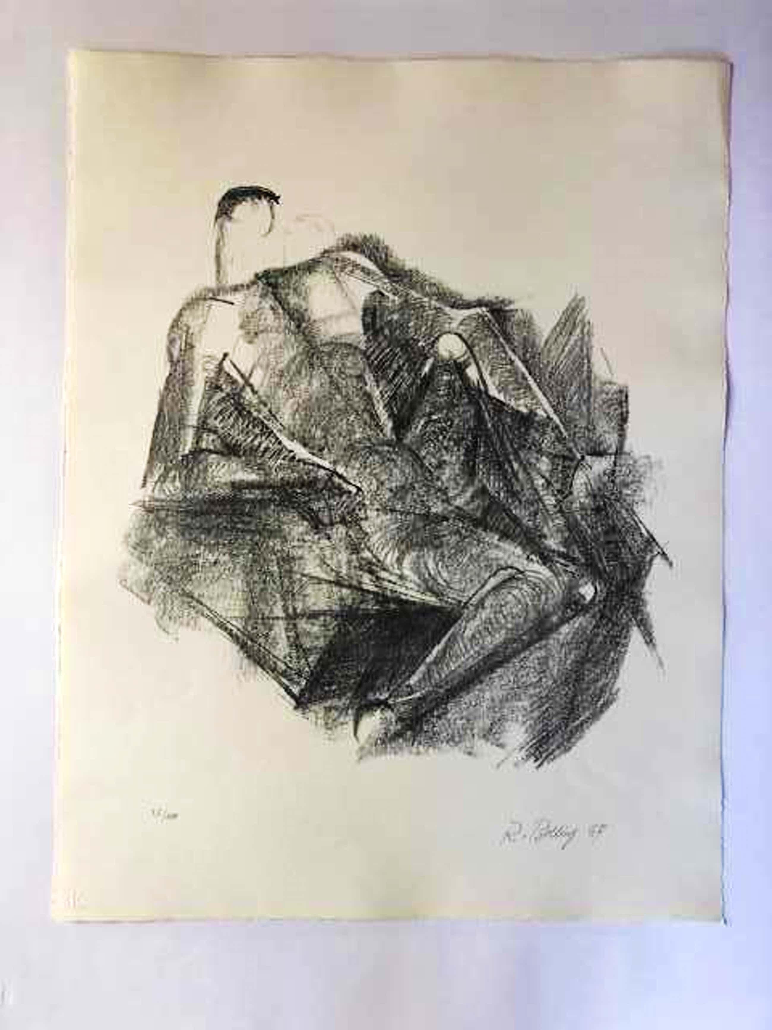 Rudolph Belling - Ruhender - Lithographie - 1967 kopen? Bied vanaf 125!