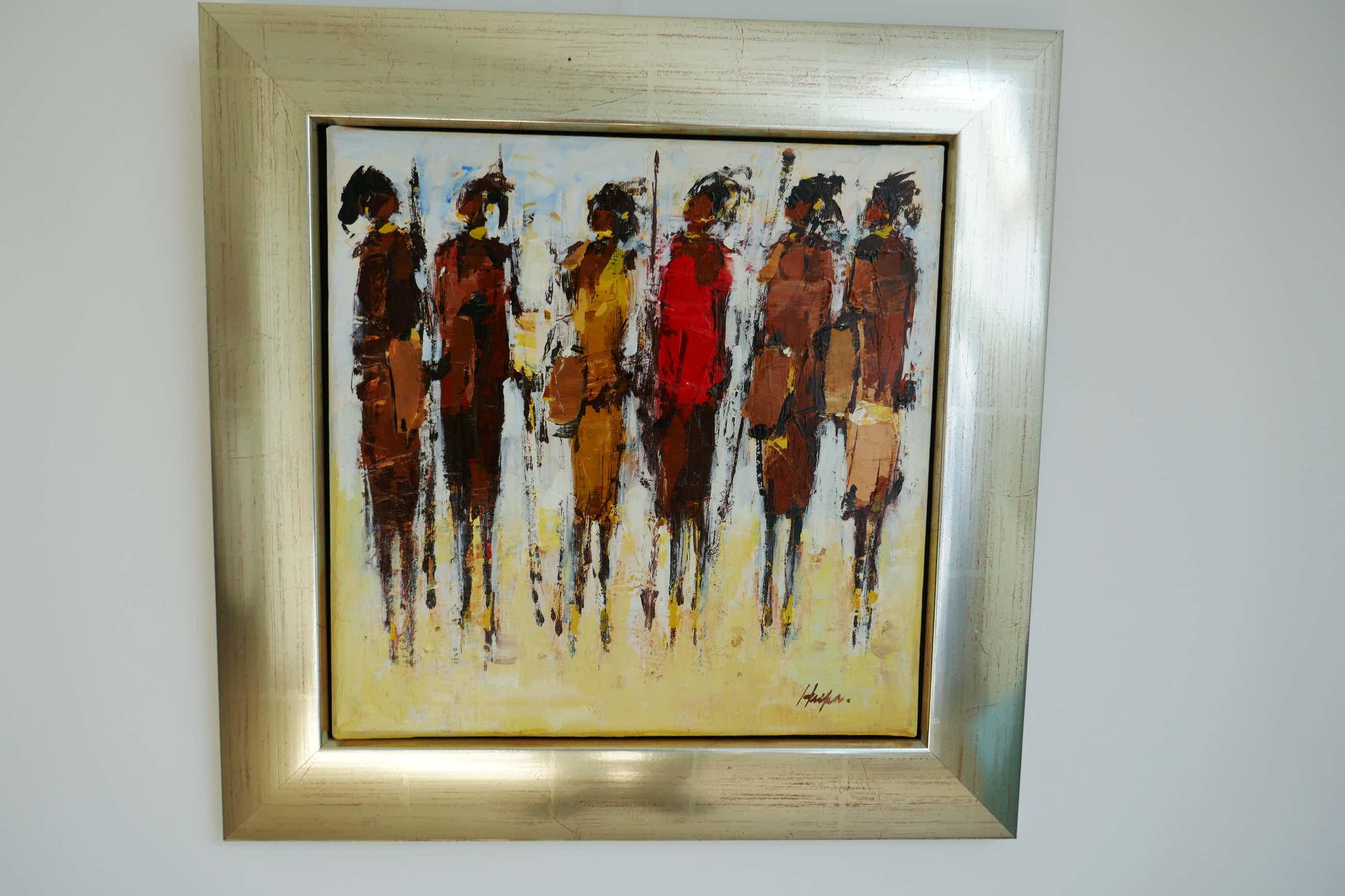 Frans van der Heide - Onbekend waarschijnlijk zijn de figuren Massai kopen? Bied vanaf 150!