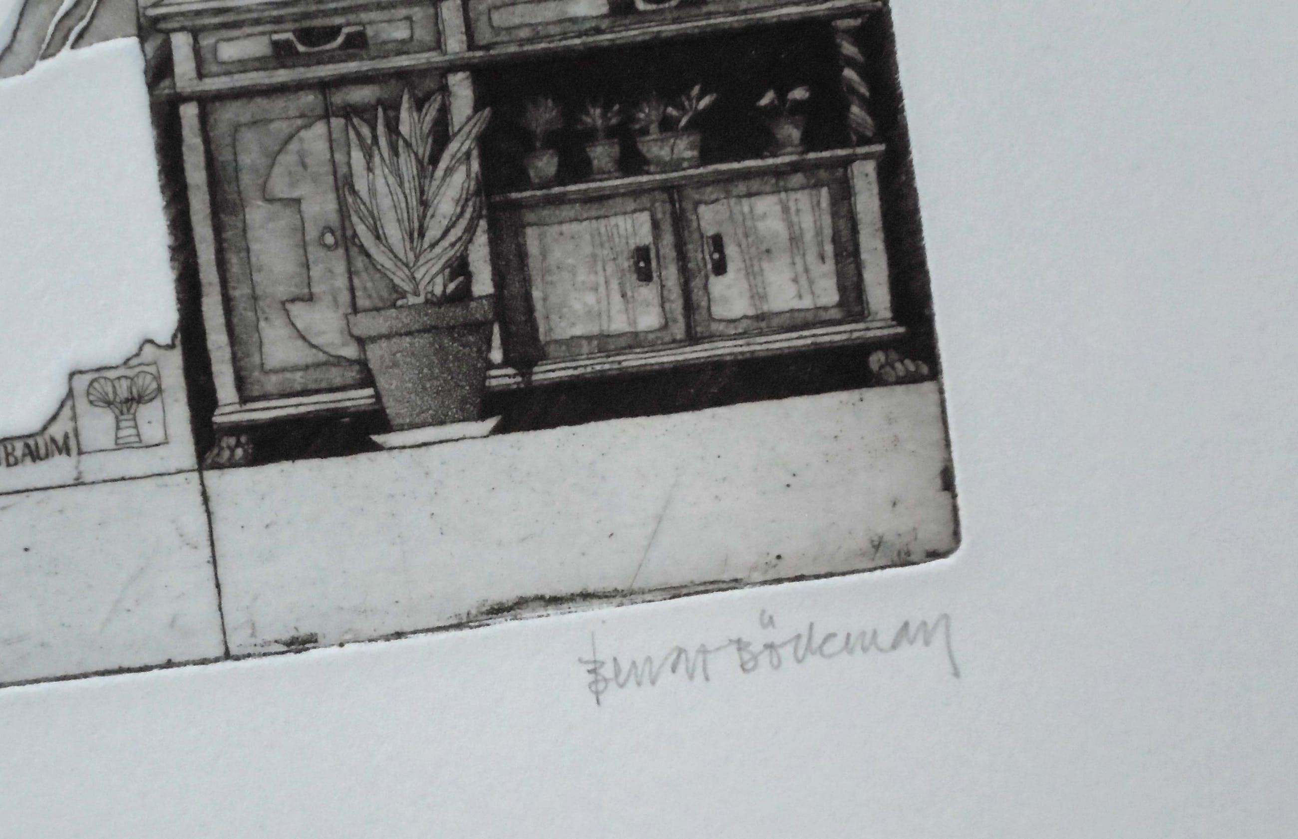 Bengt Bockman - Drachenbaumwald - ets op Büttenpapier - oplage 199 kopen? Bied vanaf 75!