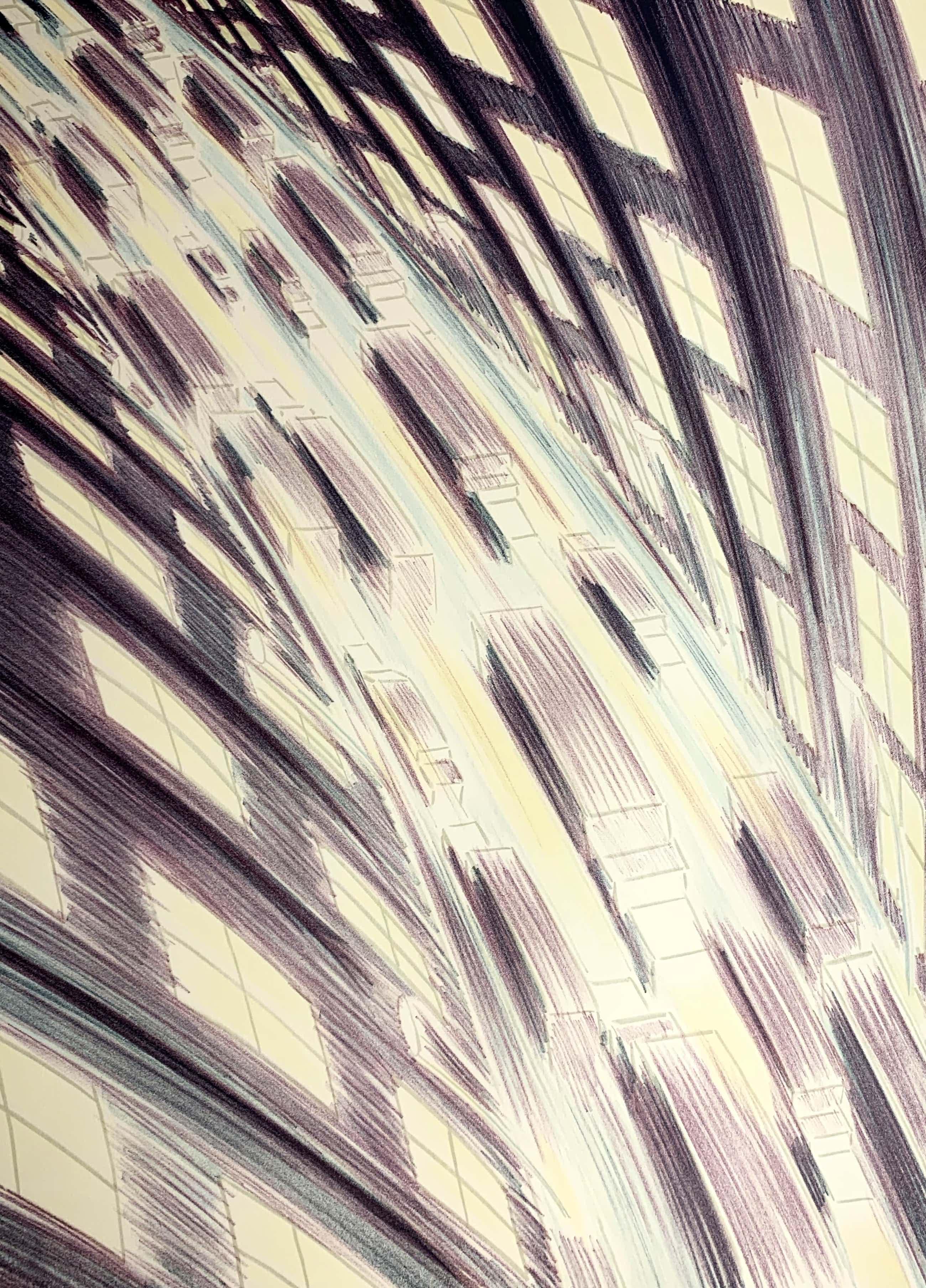 Jeroen Henneman - kleurenlitho - 'Verkeer in de stad' - 1988 (Kleine oplage) kopen? Bied vanaf 200!