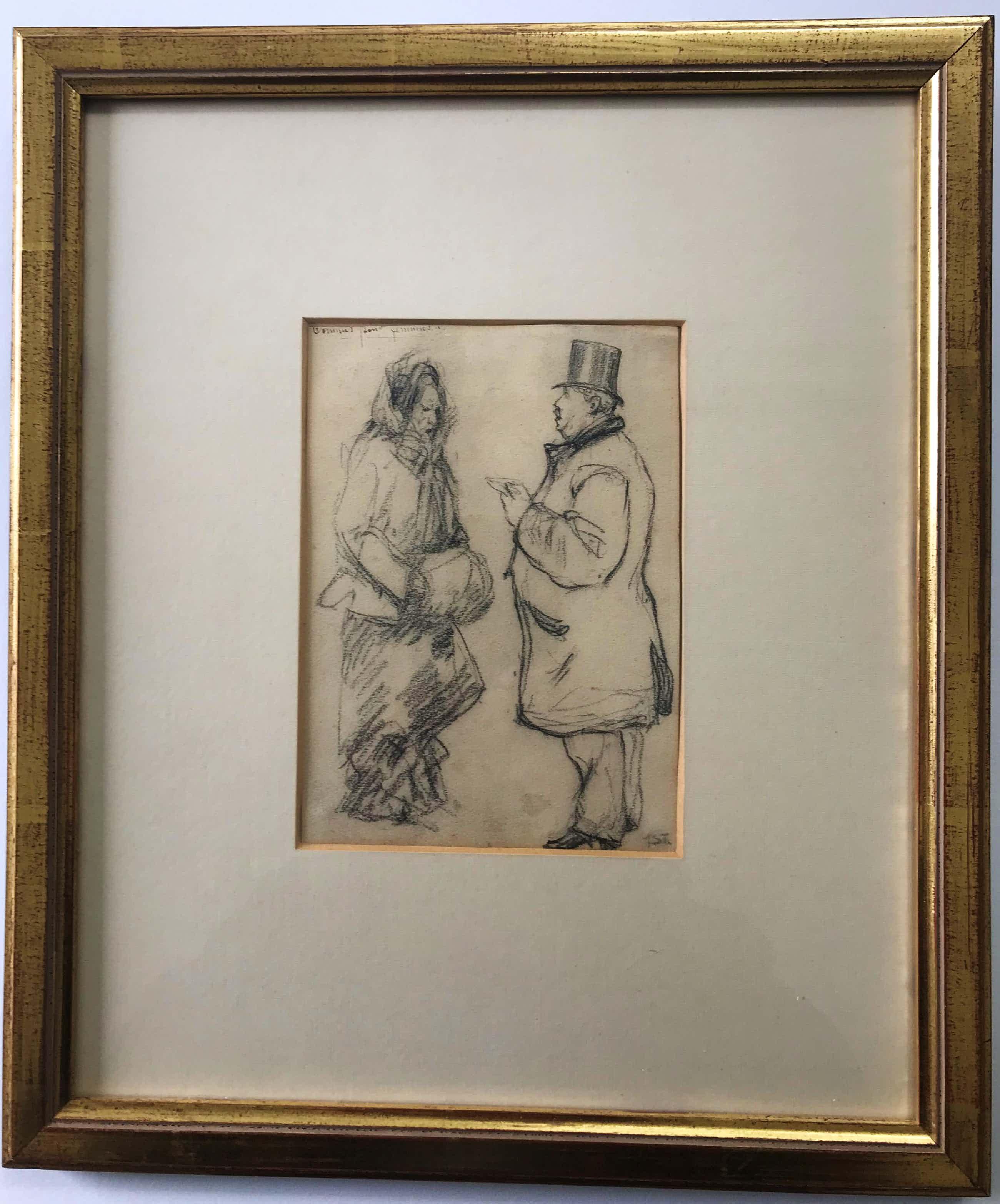Theophile Alexandre Steinlen - Twee figuren, een brief voor mevrouw kopen? Bied vanaf 200!