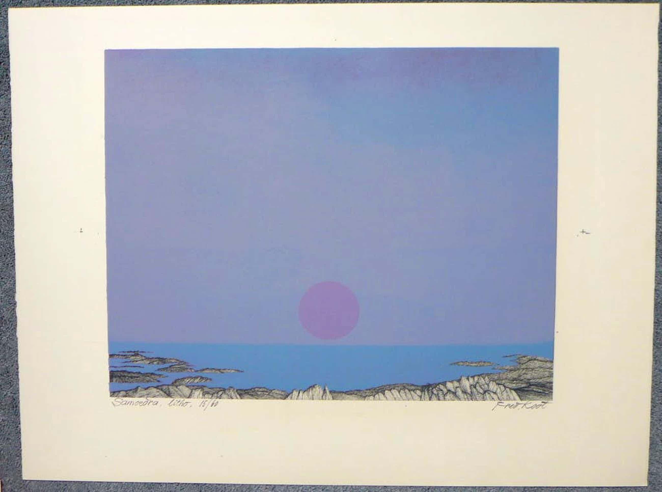 Fred Koot - Fred Koot, litho, titel Samoedra oplage 15/60 beeldformaat 35 x 45 cm.  kopen? Bied vanaf 50!