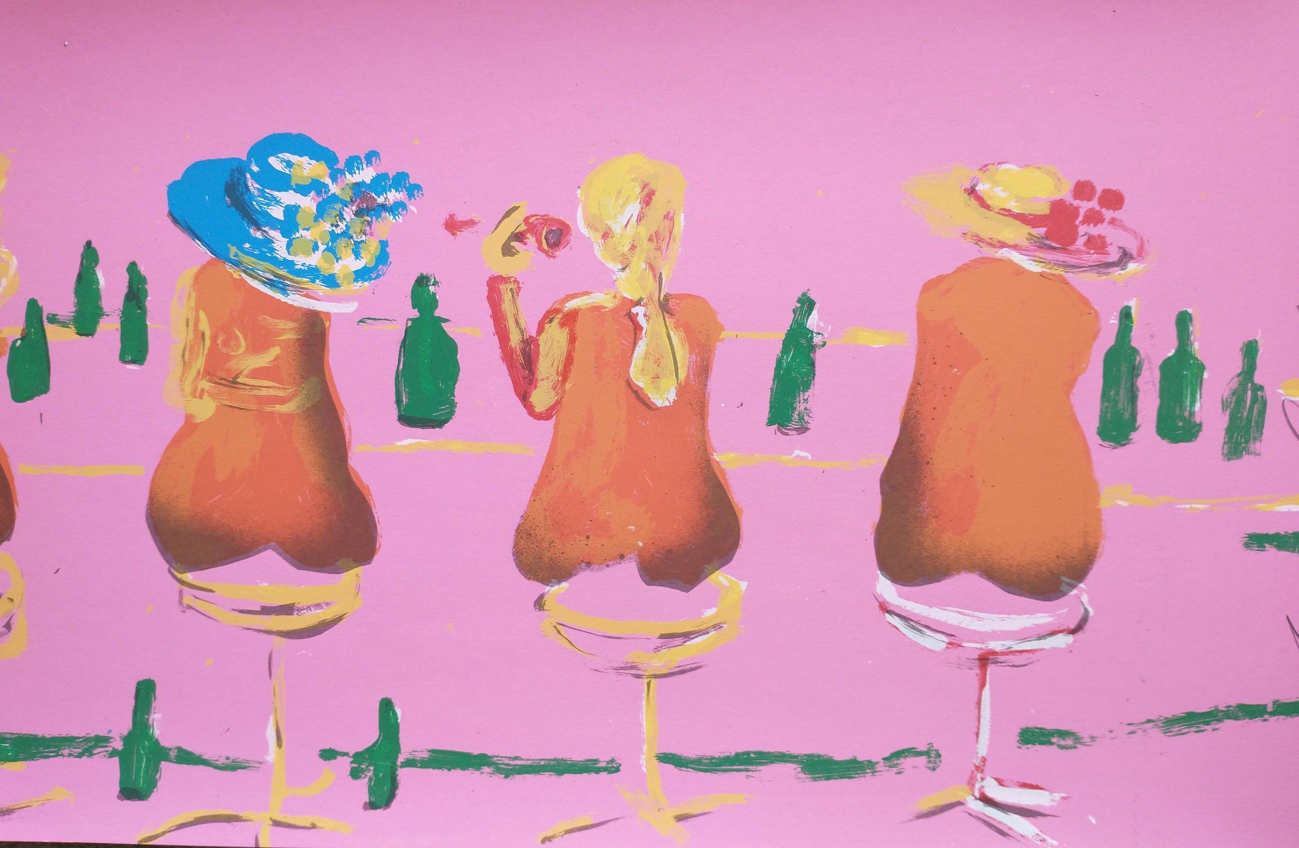 Espen Hagen - Six ladies at the pink bar kopen? Bied vanaf 1!