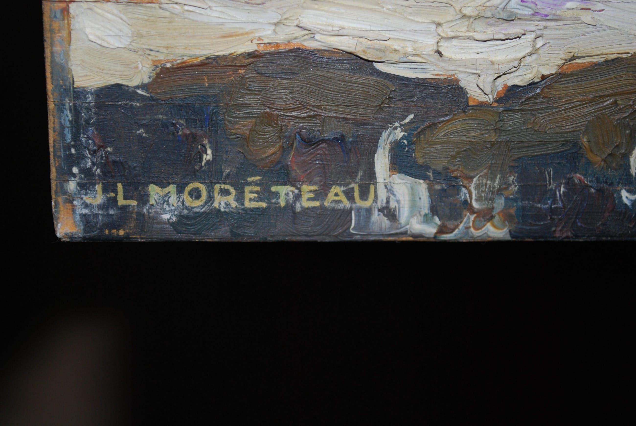 Jules Louis Moreteau - Wilde zee bij Mogador, Marokko - olieverf op paneel 1931 kopen? Bied vanaf 89!