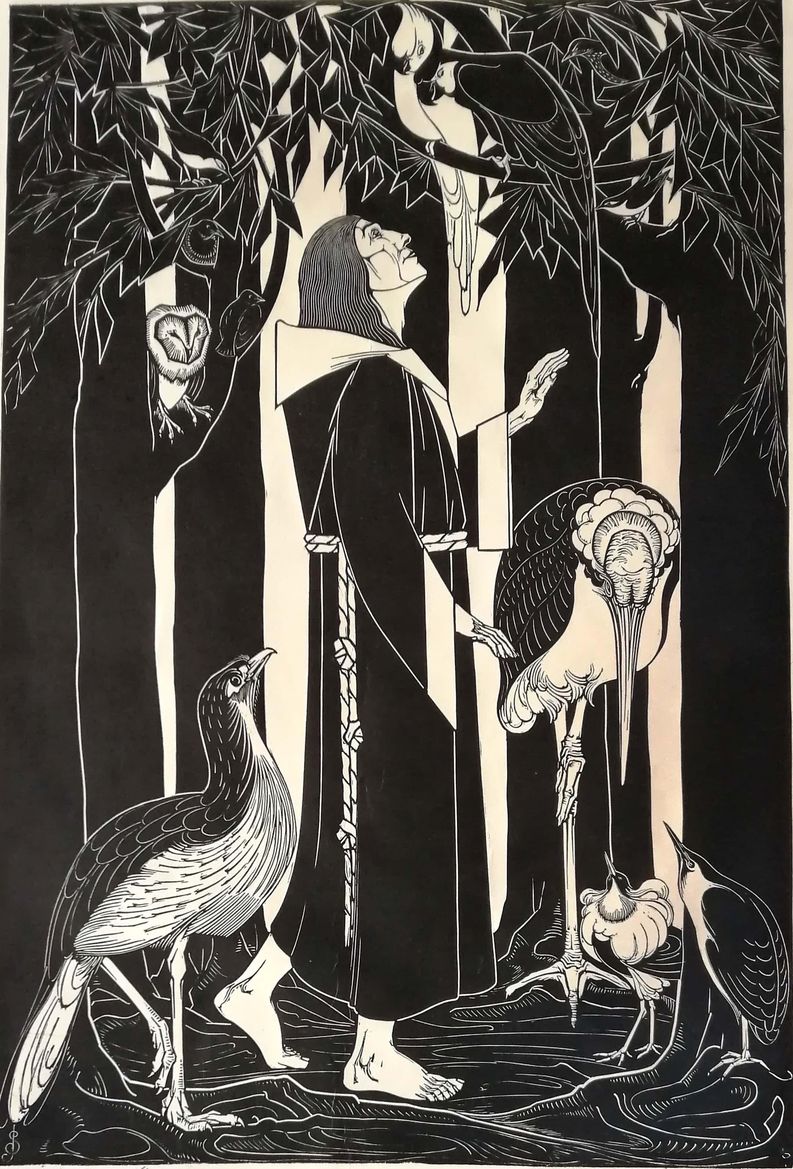 Jan Schonk - St. Franciscus en de vogels kopen? Bied vanaf 650!